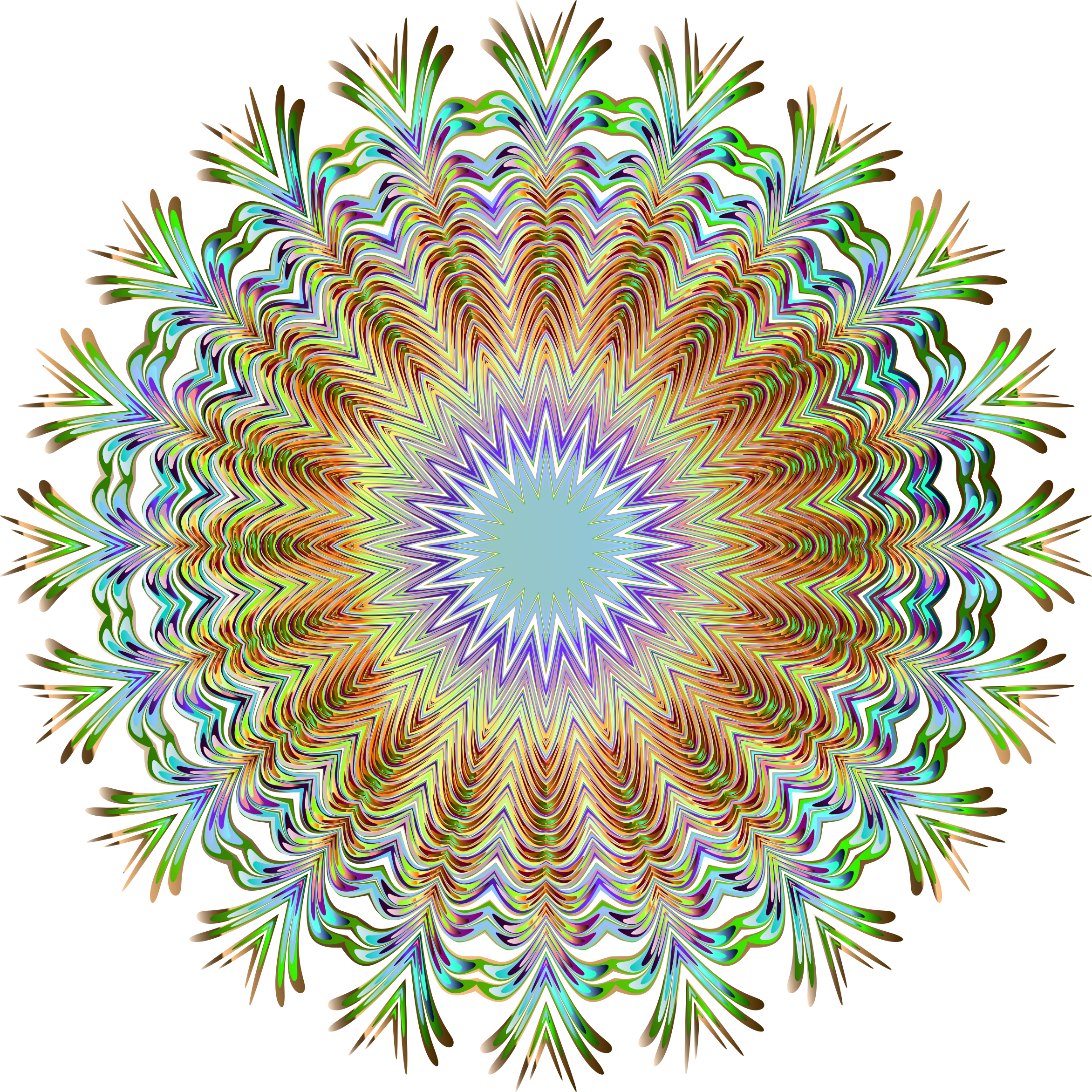 Chromatic Symmetric Mandala 3 No Background by GDJ