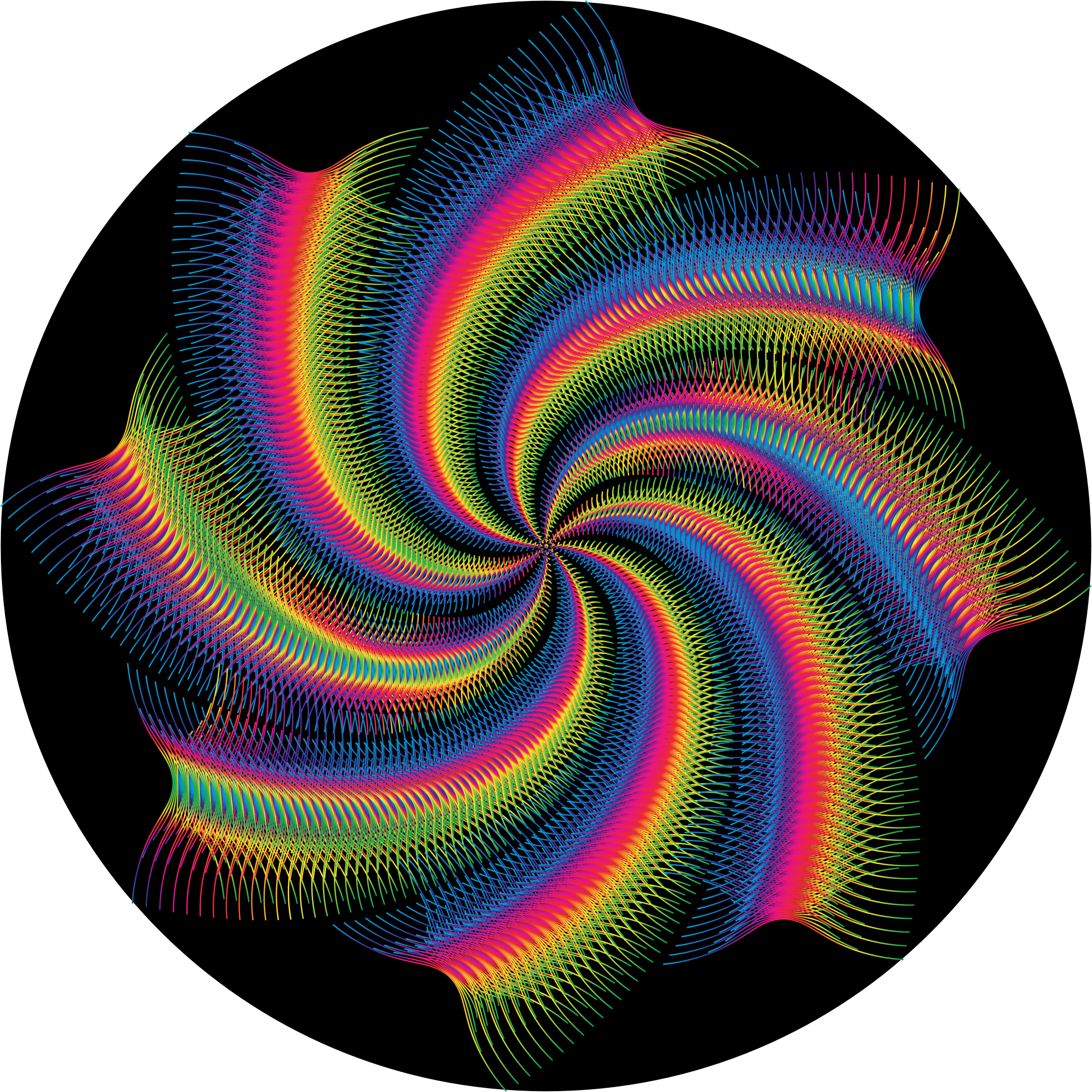 Prismatic Abstract Line Art Cyclone by GDJ