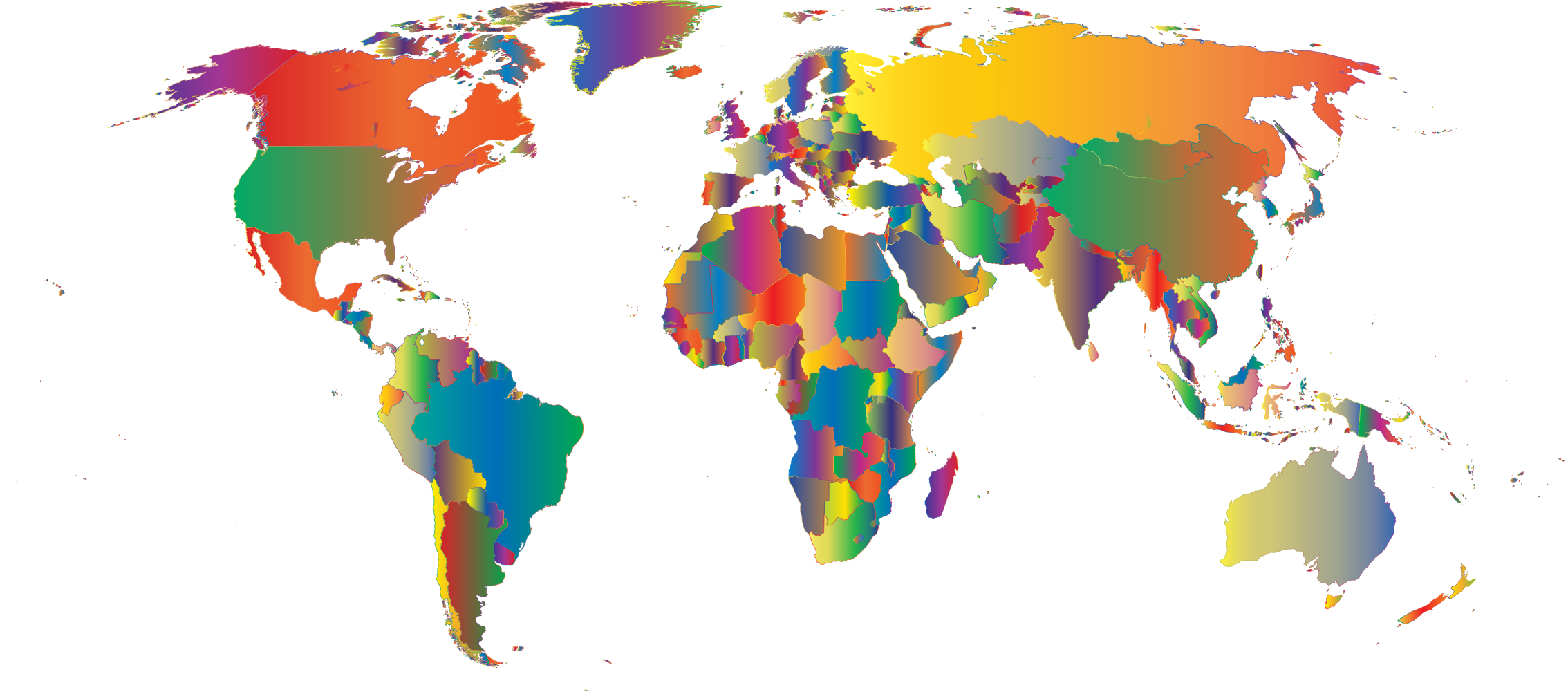 Prismatic World Map 5 by GDJ