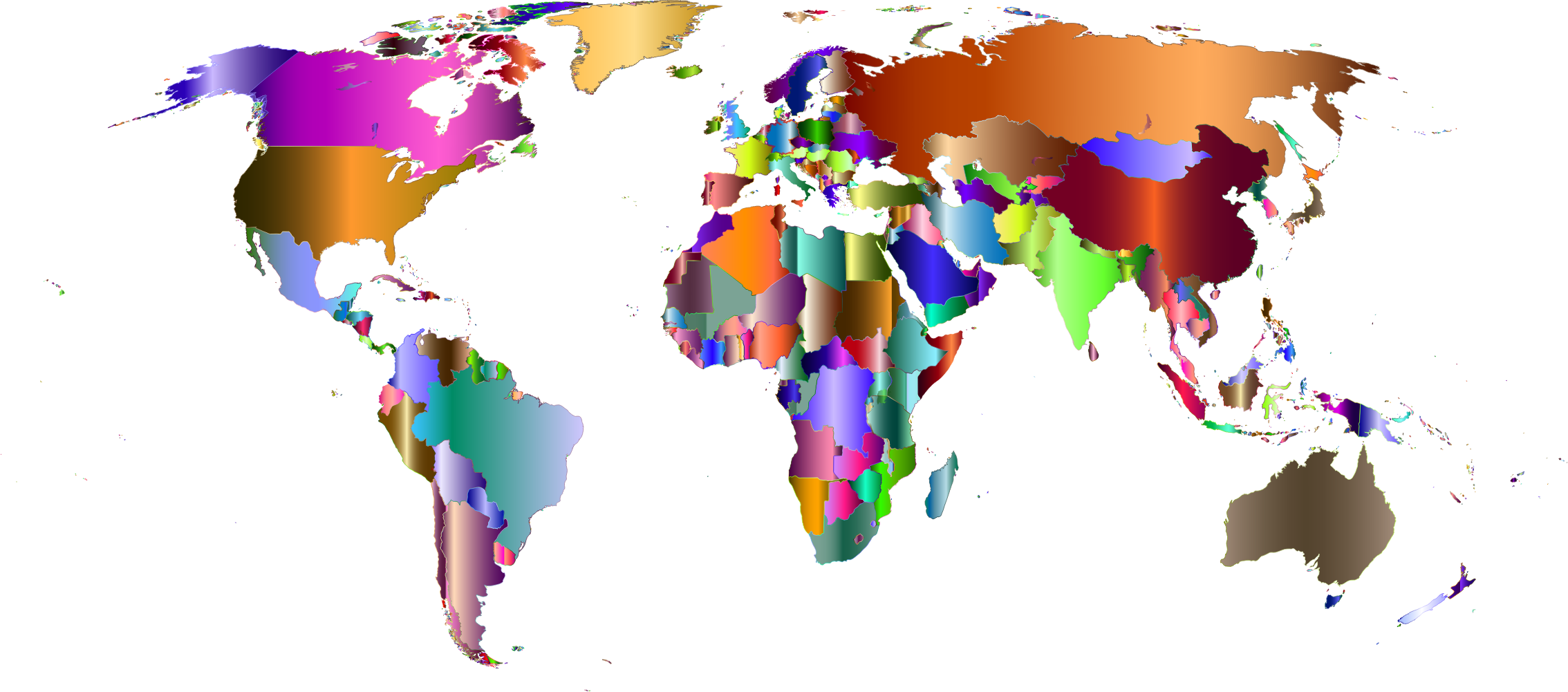 Prismatic World Map 8 by GDJ