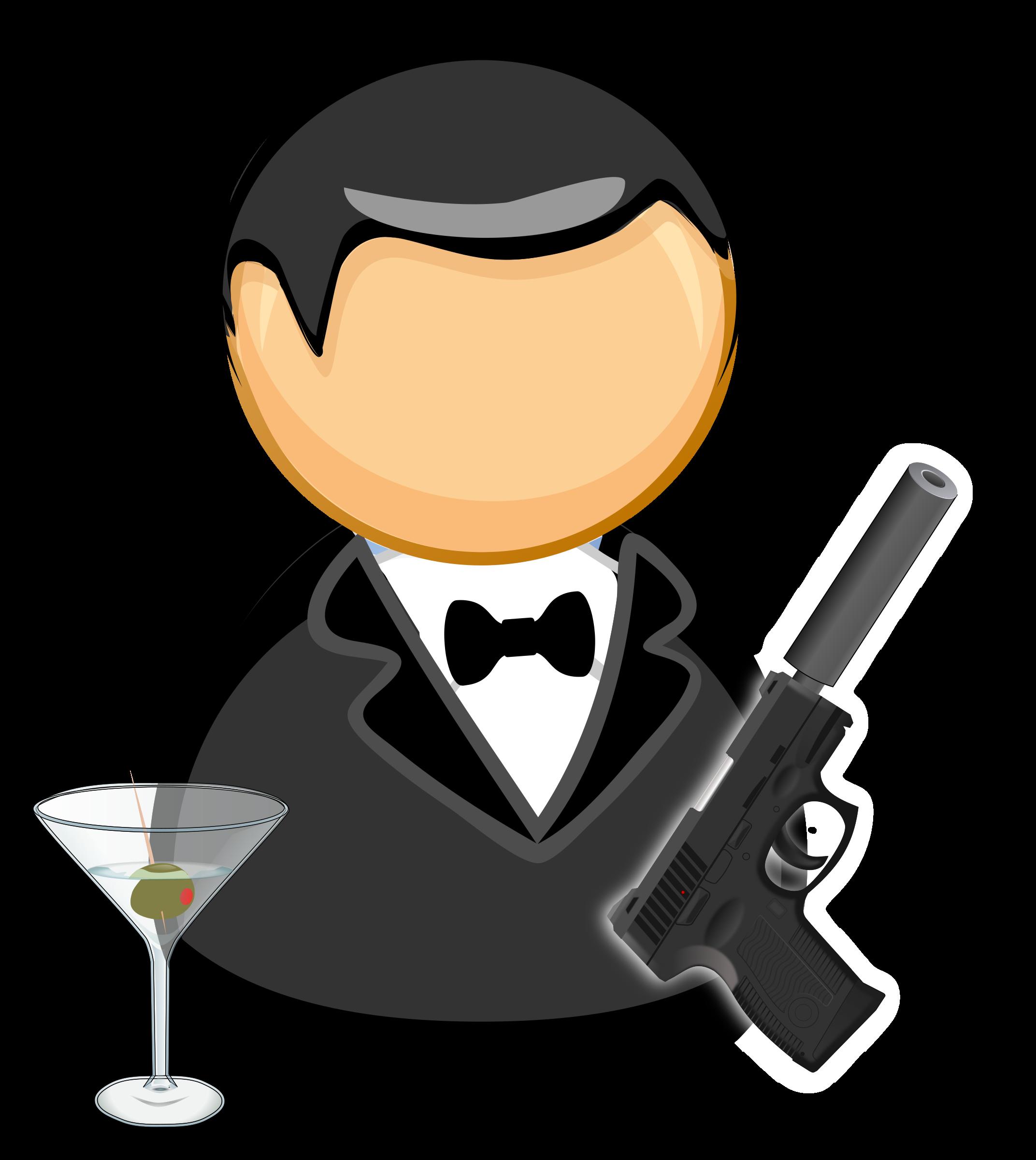 the gallery for  gt  black bow tie clipart png Secret Agent Logo secret agent clipart