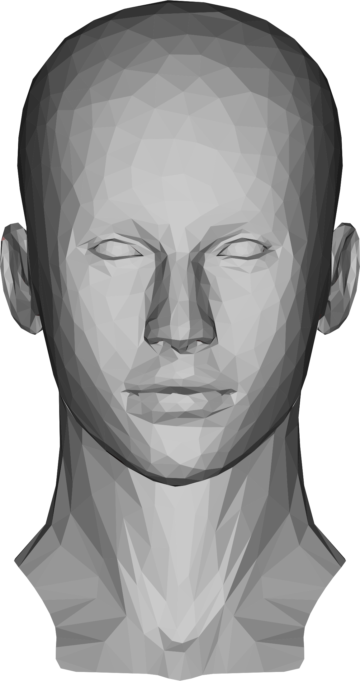 Low Poly Female Head by GDJ
