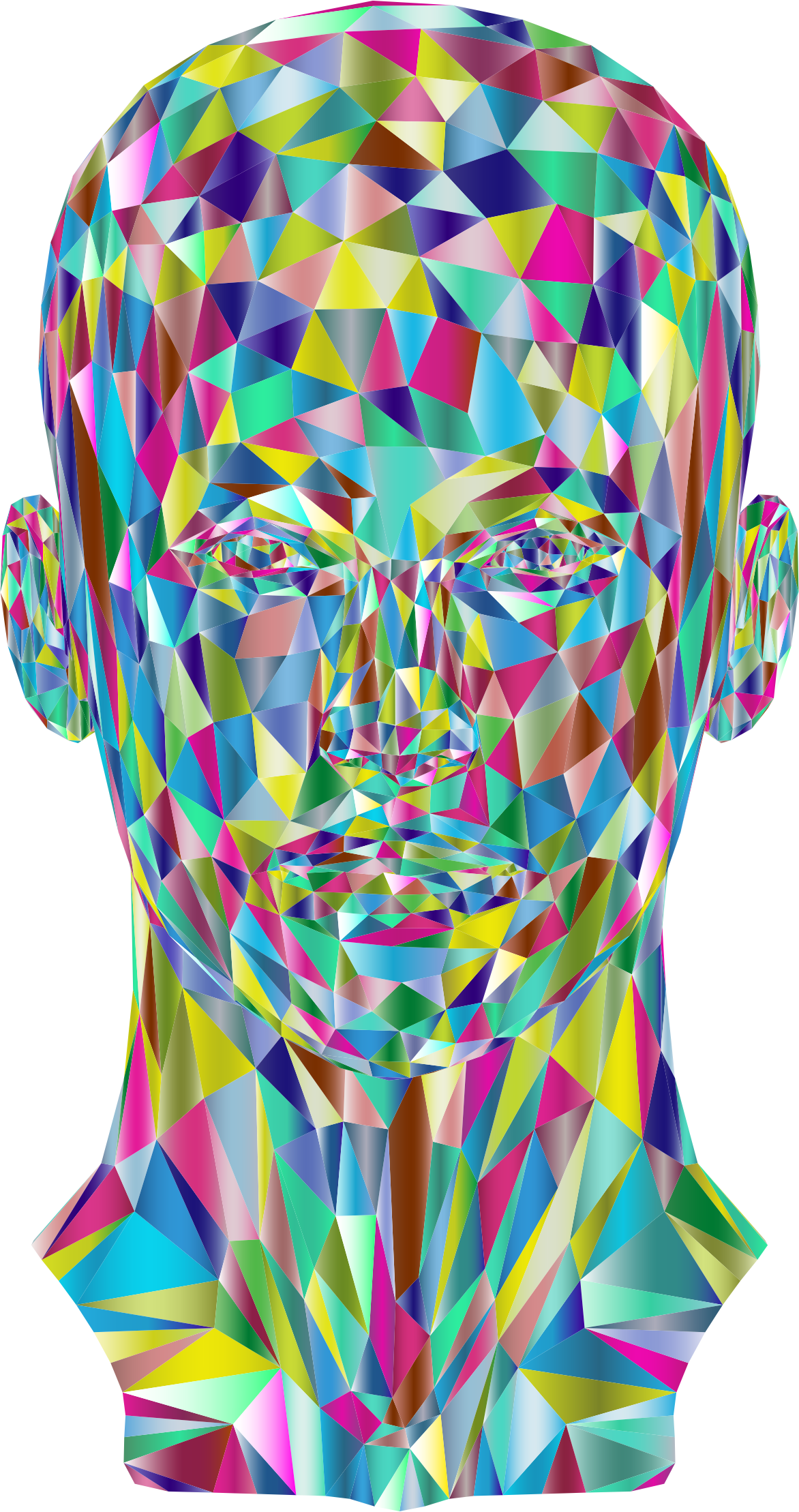 Prismatic Low Poly Female Head 2 by GDJ