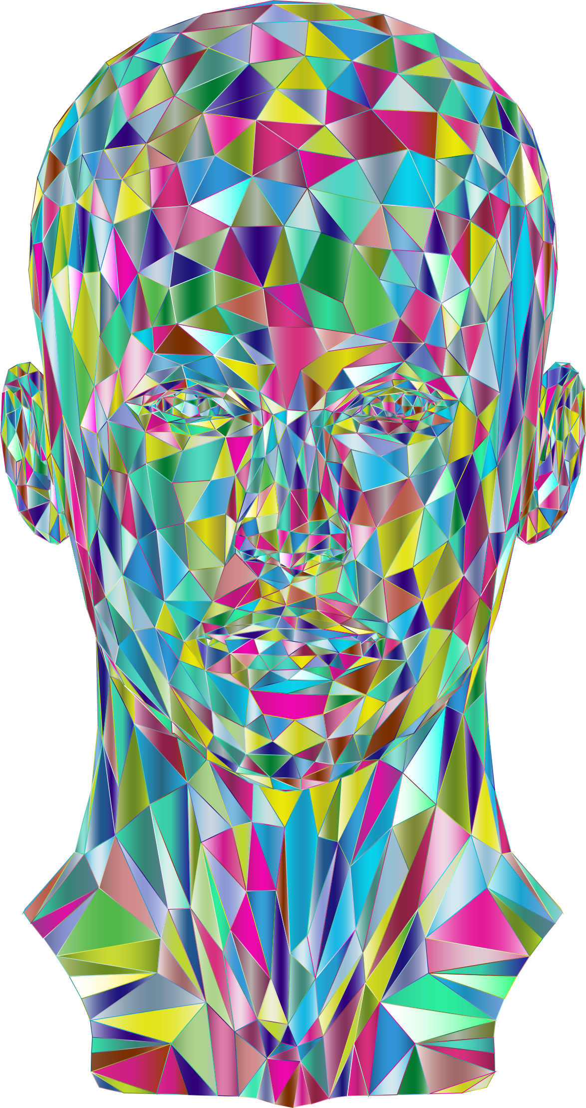 Prismatic Low Poly Female Head 2 Variation 2 by GDJ