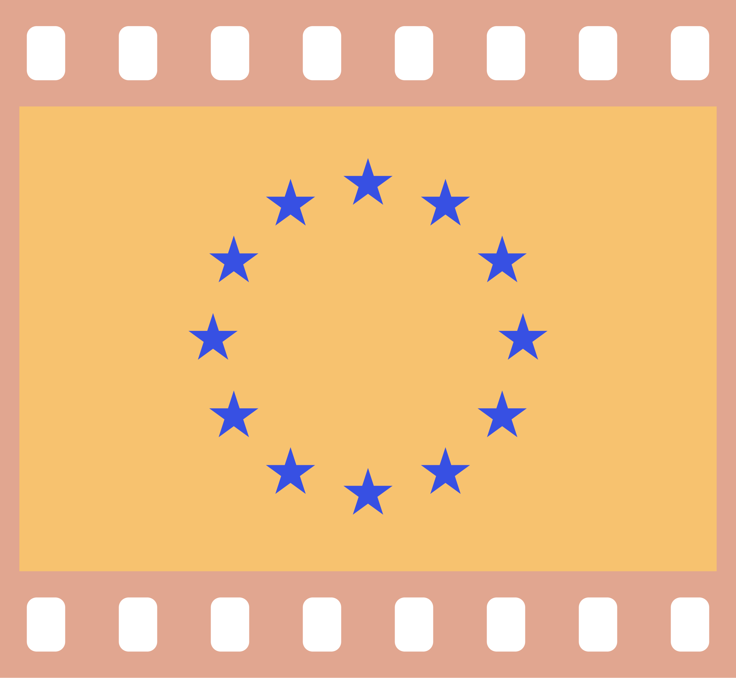 Flag of Europe in a 35 mm film frame (negative) by AdamStanislav