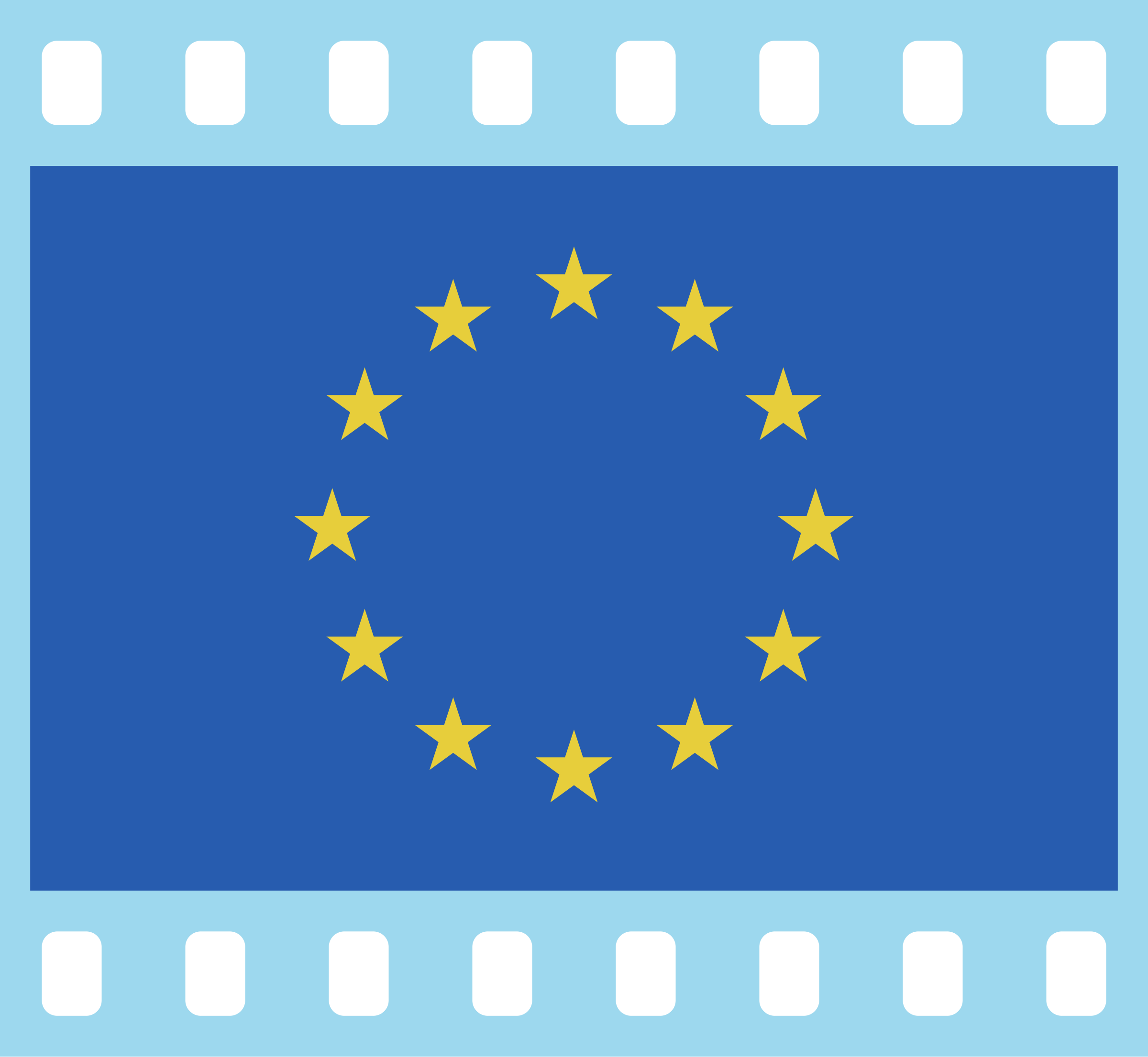 Flag of Europe in a 35 mm film frame (positive) by AdamStanislav