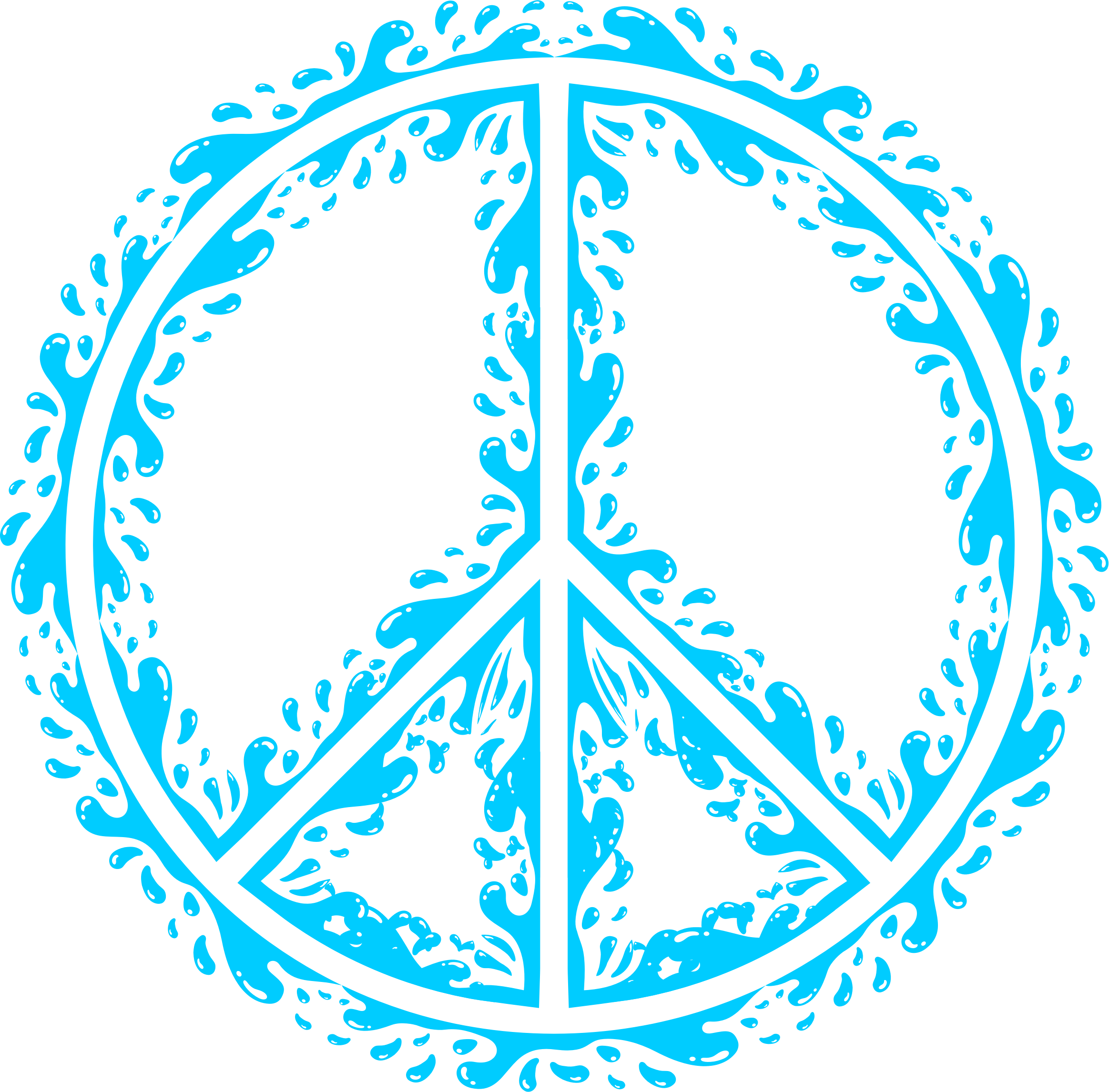 Aqua Peace Sign by GDJ