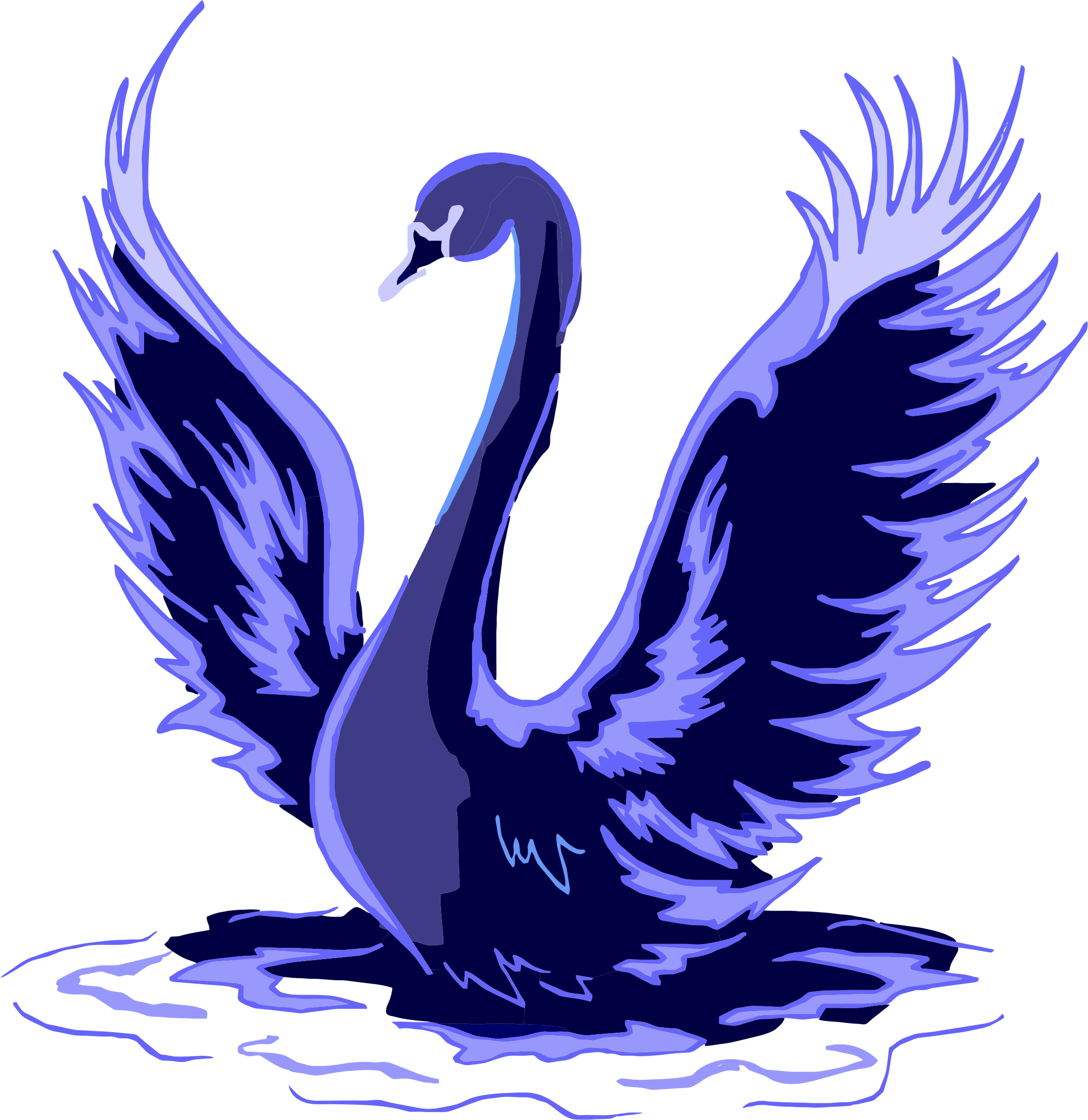 Stylized Blue Swan by GDJ