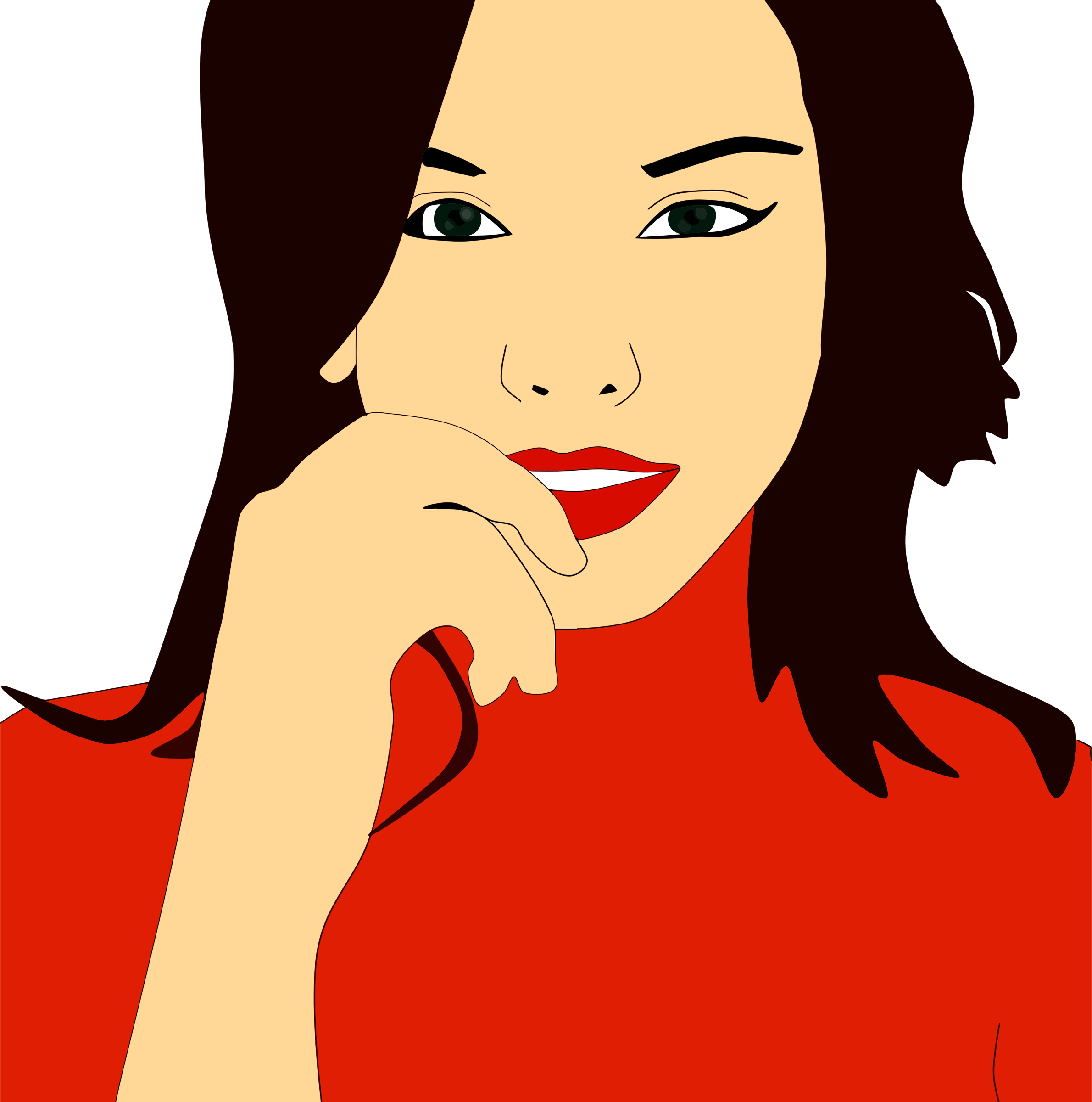 Red Lipstick Woman Portrait by GDJ