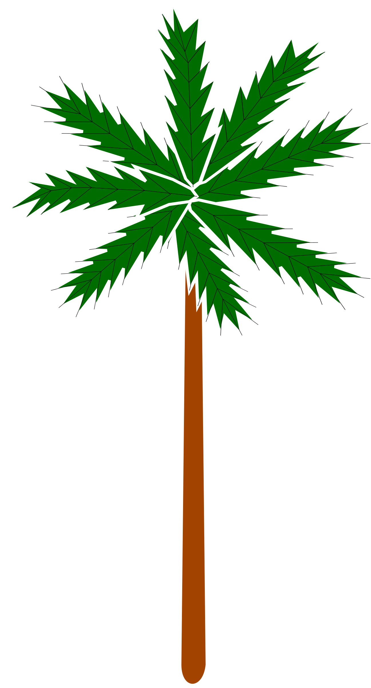 Stylised palm tree 2 by Firkin