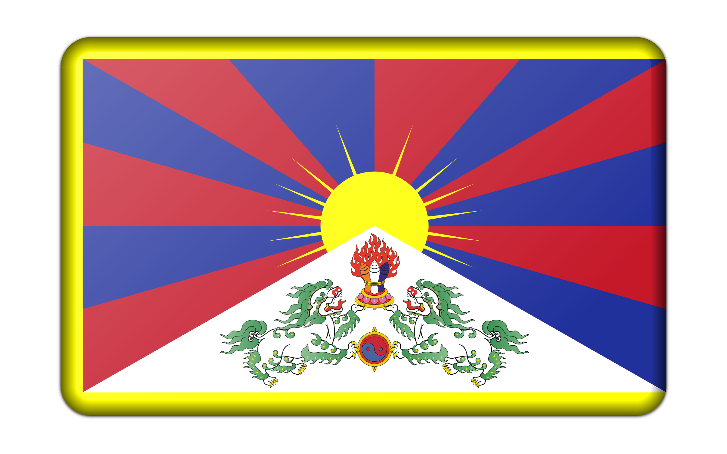 Flag of Tibet (bevelled) by Firkin
