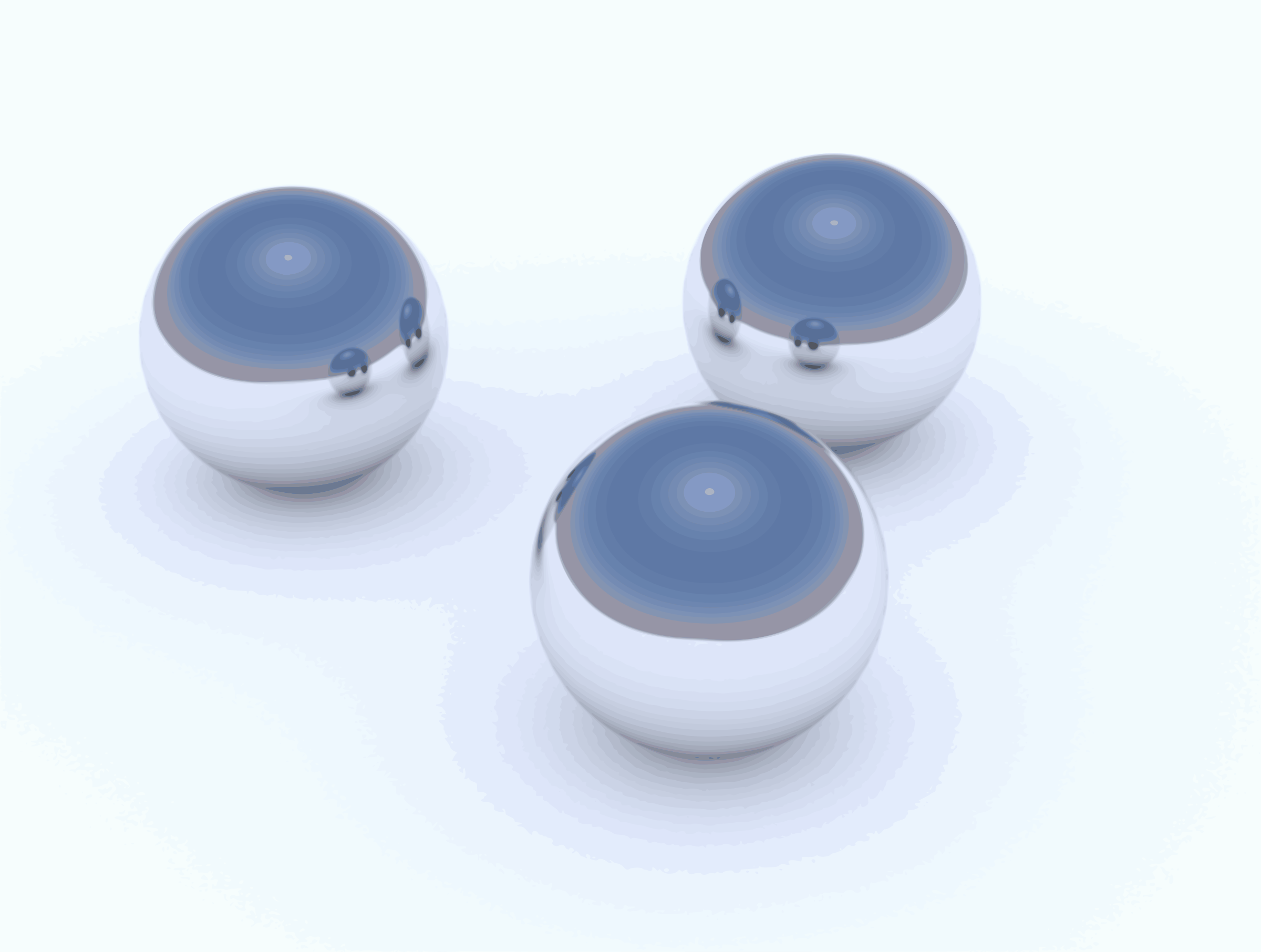 3 Reflective Balls - Vectorized by photofree.ga