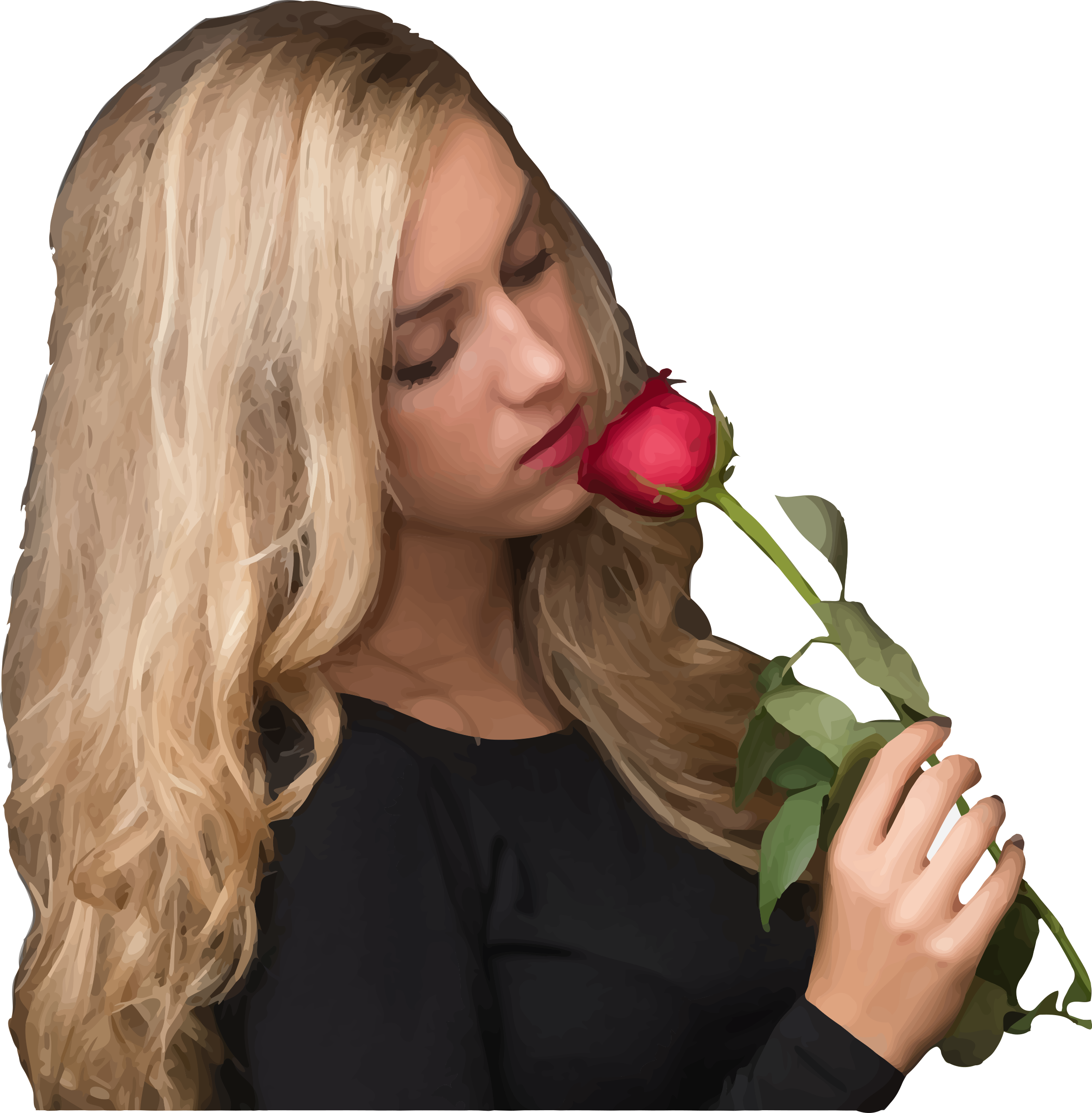Girl with rose by Firkin