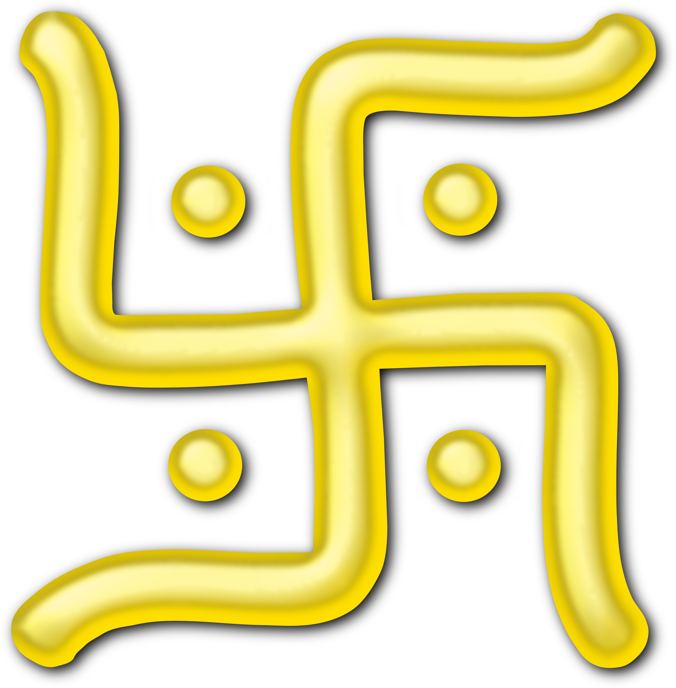 Golden swastika by Firkin