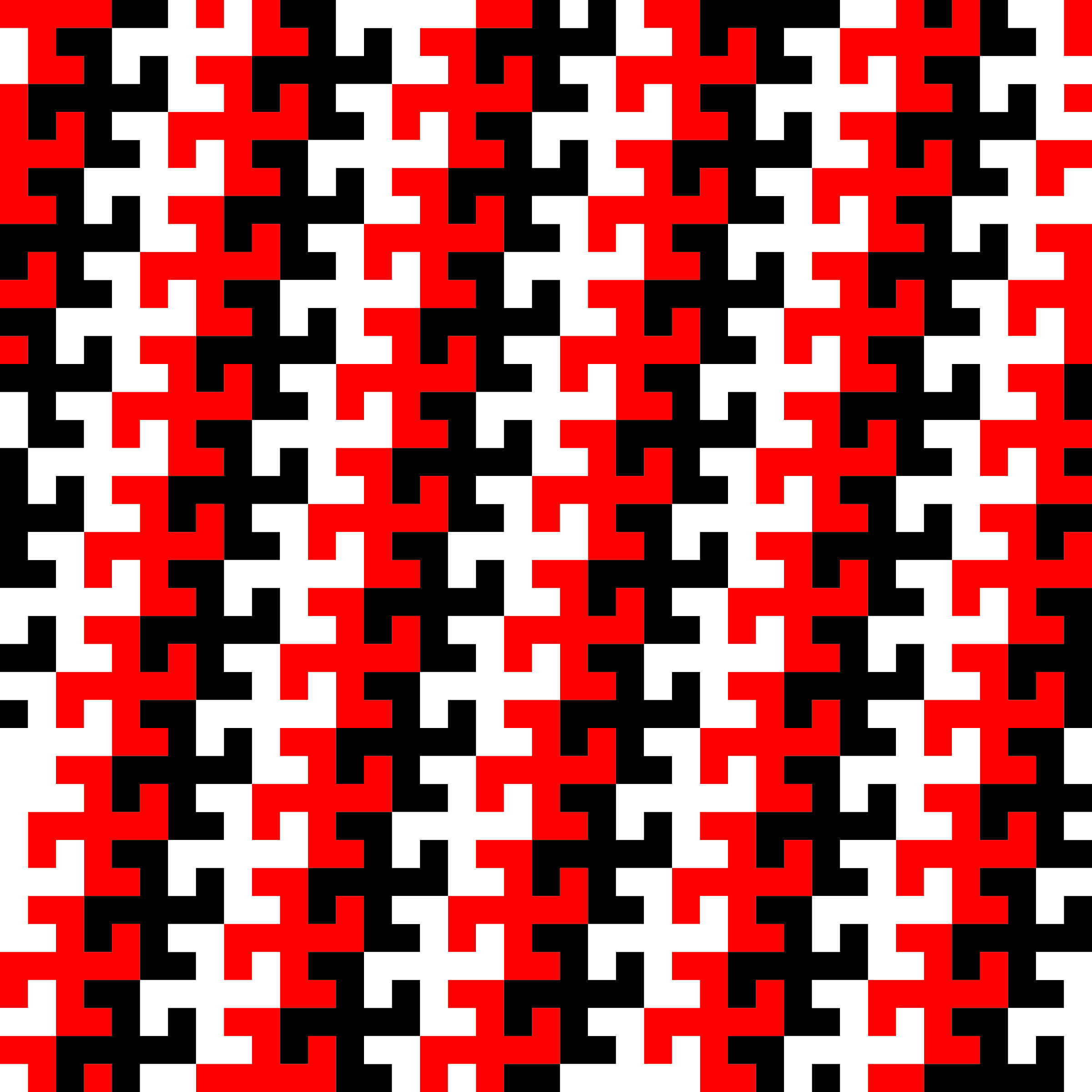 Swastika tessellation 1 (three-colour) by Firkin