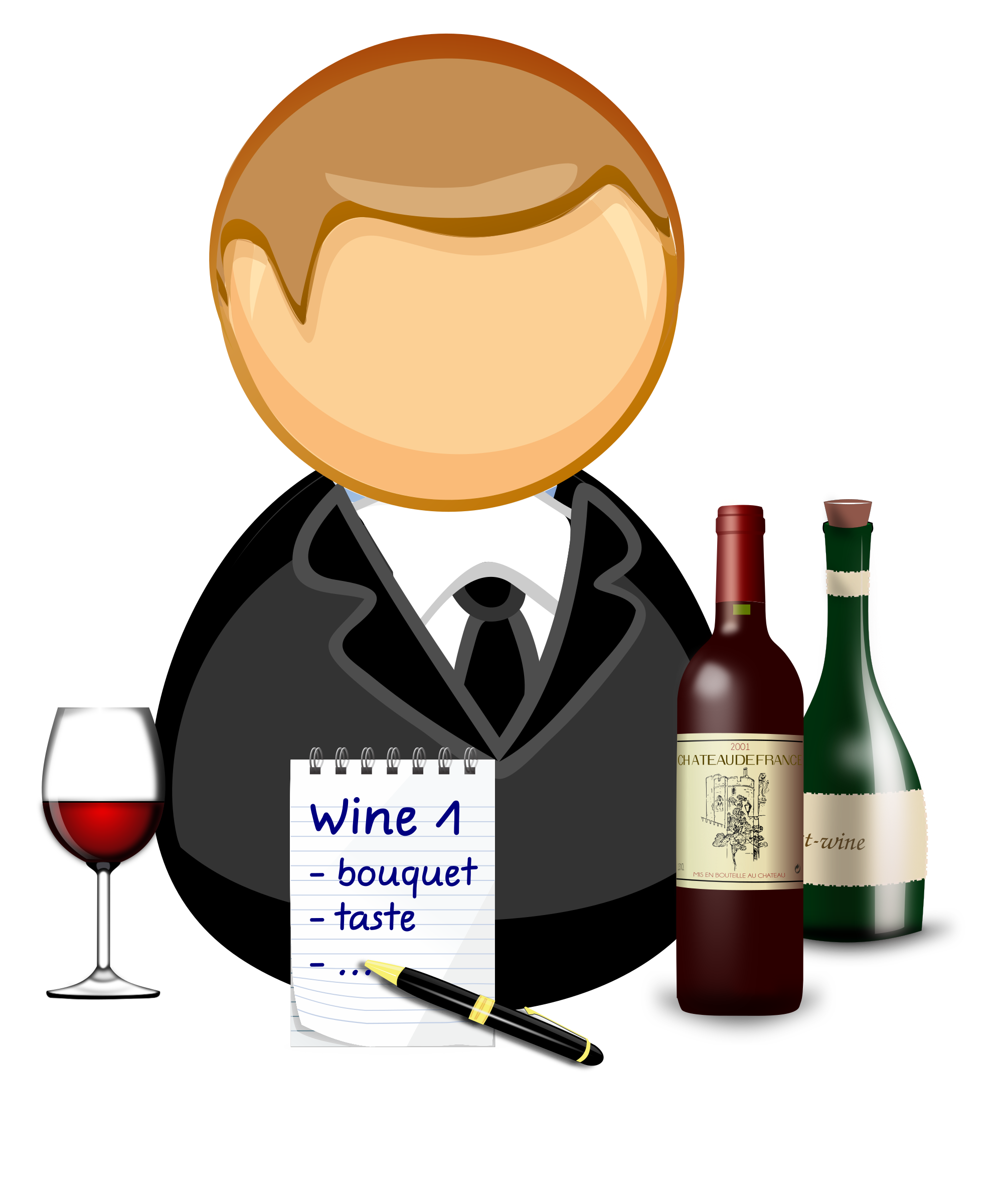 Sommelier / wine steward by Juhele