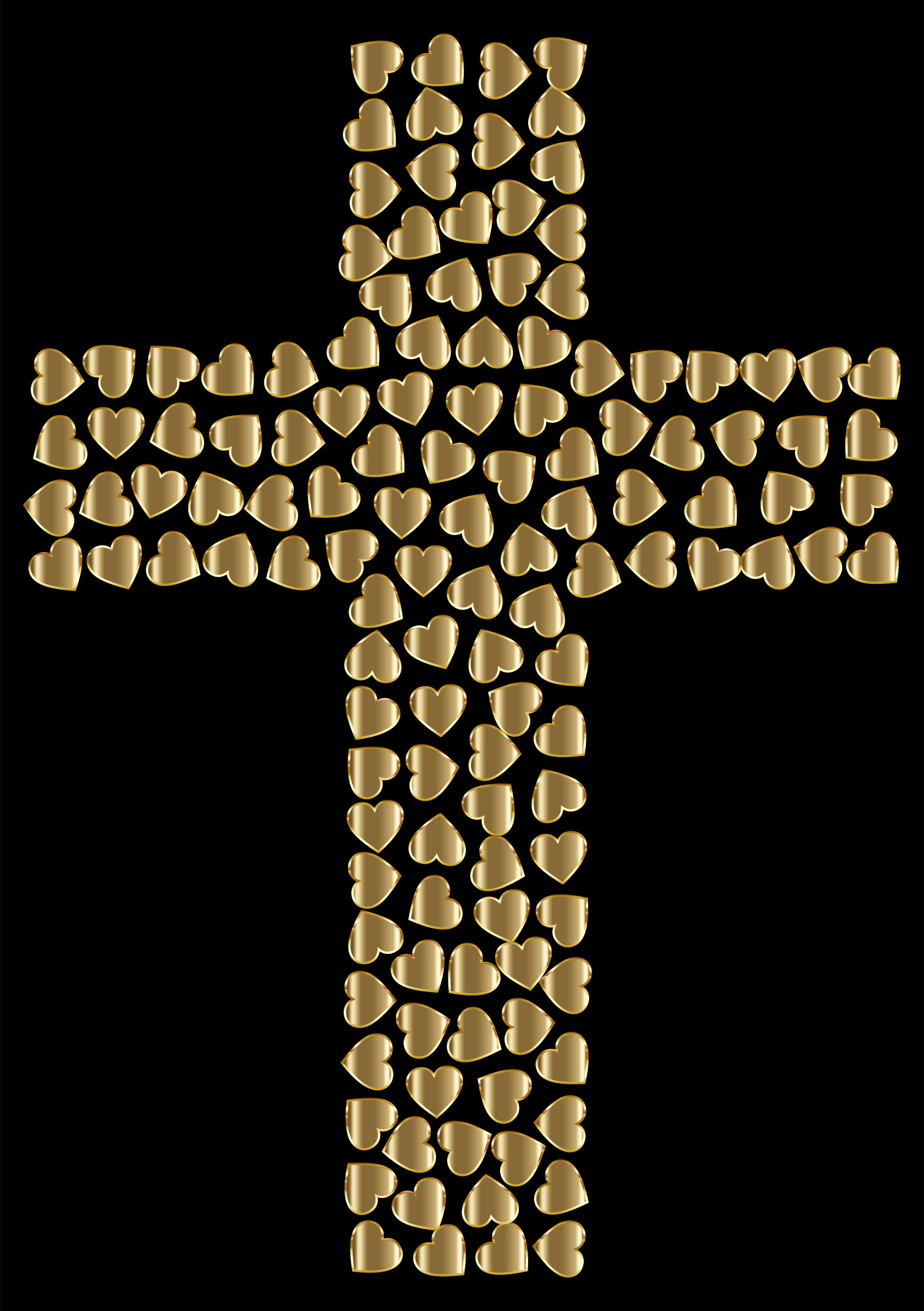 Golden Hearts Cross by GDJ