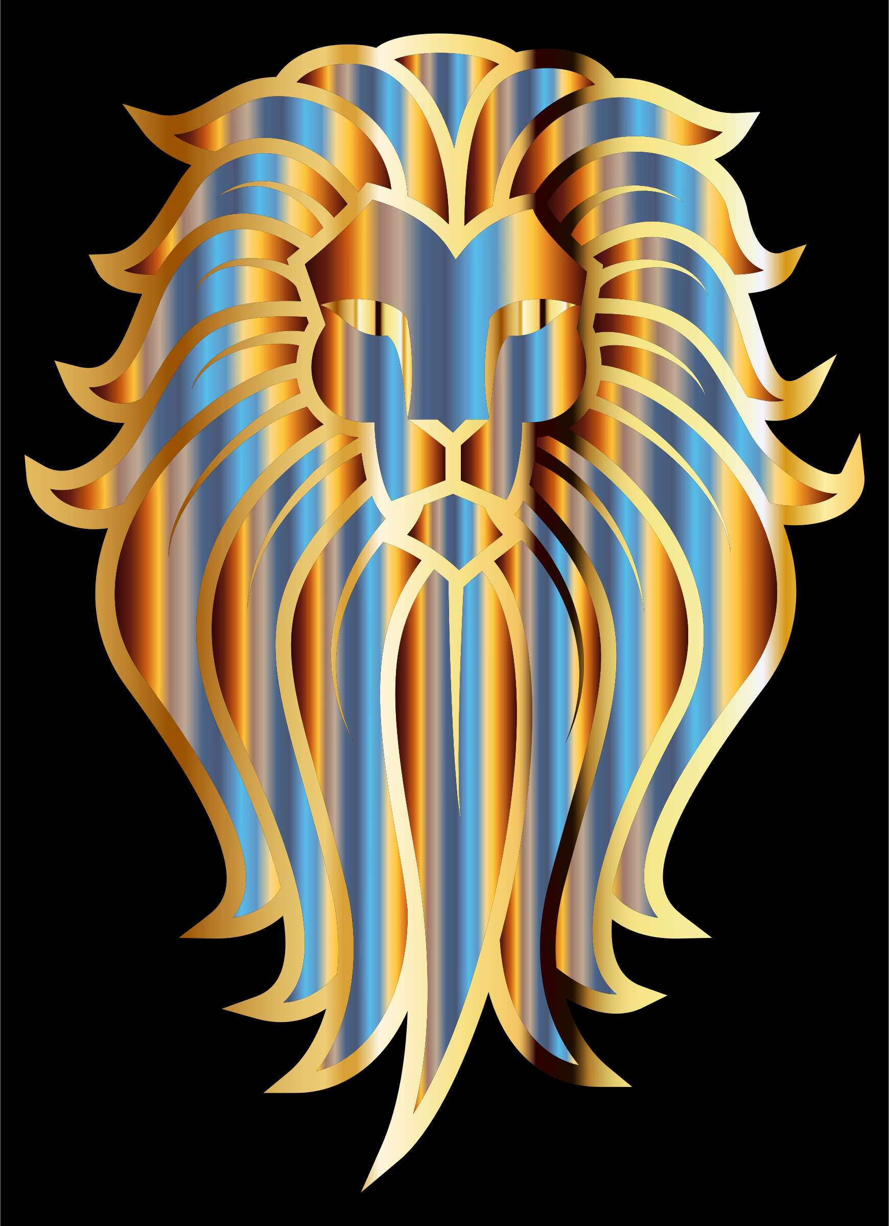 Chromatic Lion Face Tattoo by GDJ