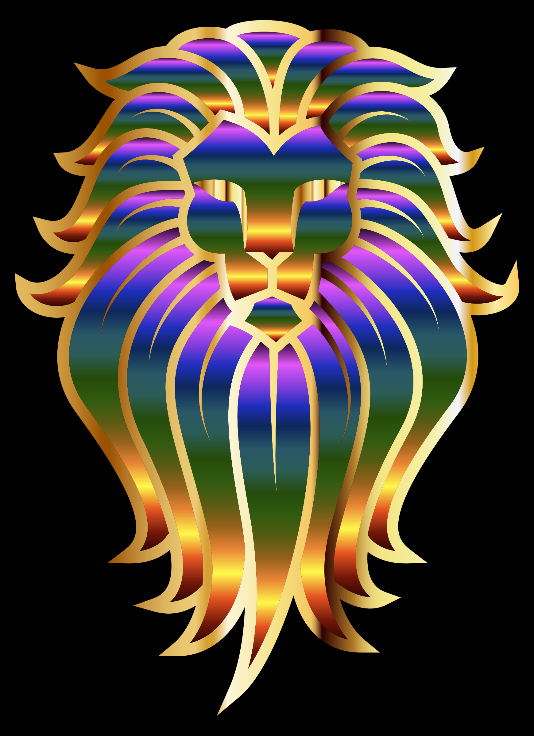 Chromatic Lion Face Tattoo 2 by GDJ