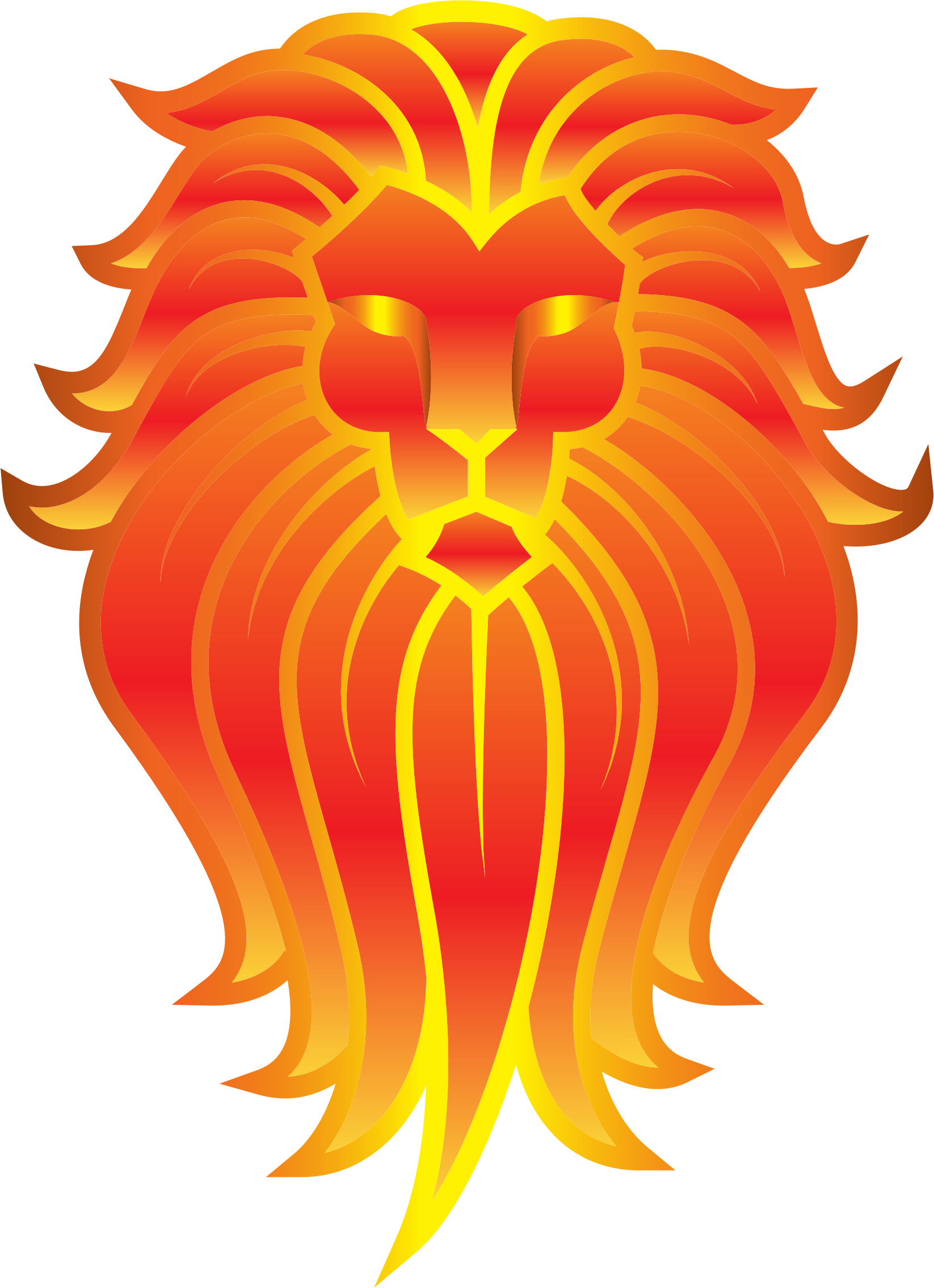 Chromatic Lion Face Tattoo 4 No Background by GDJ