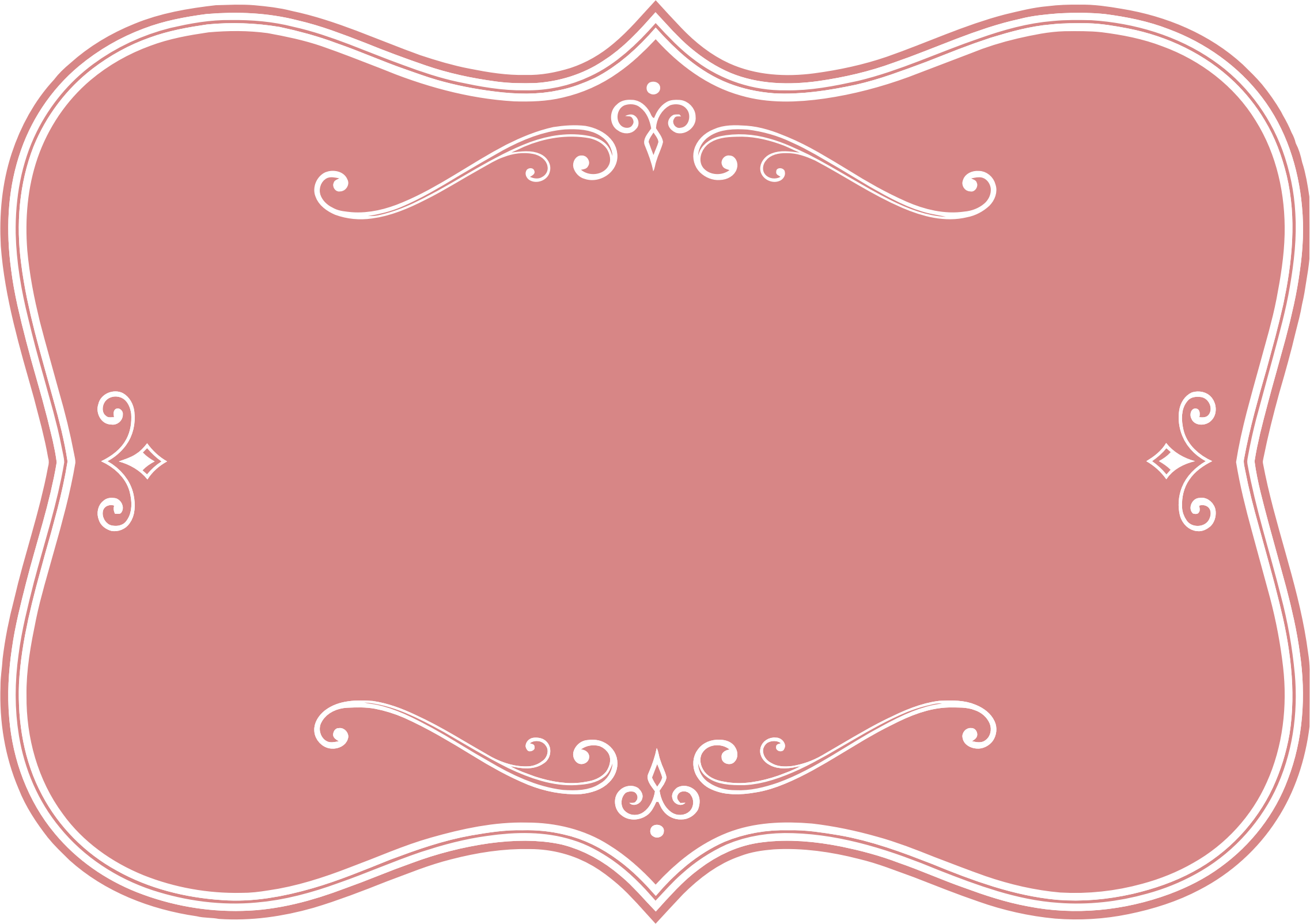 decorative pink flourish frame