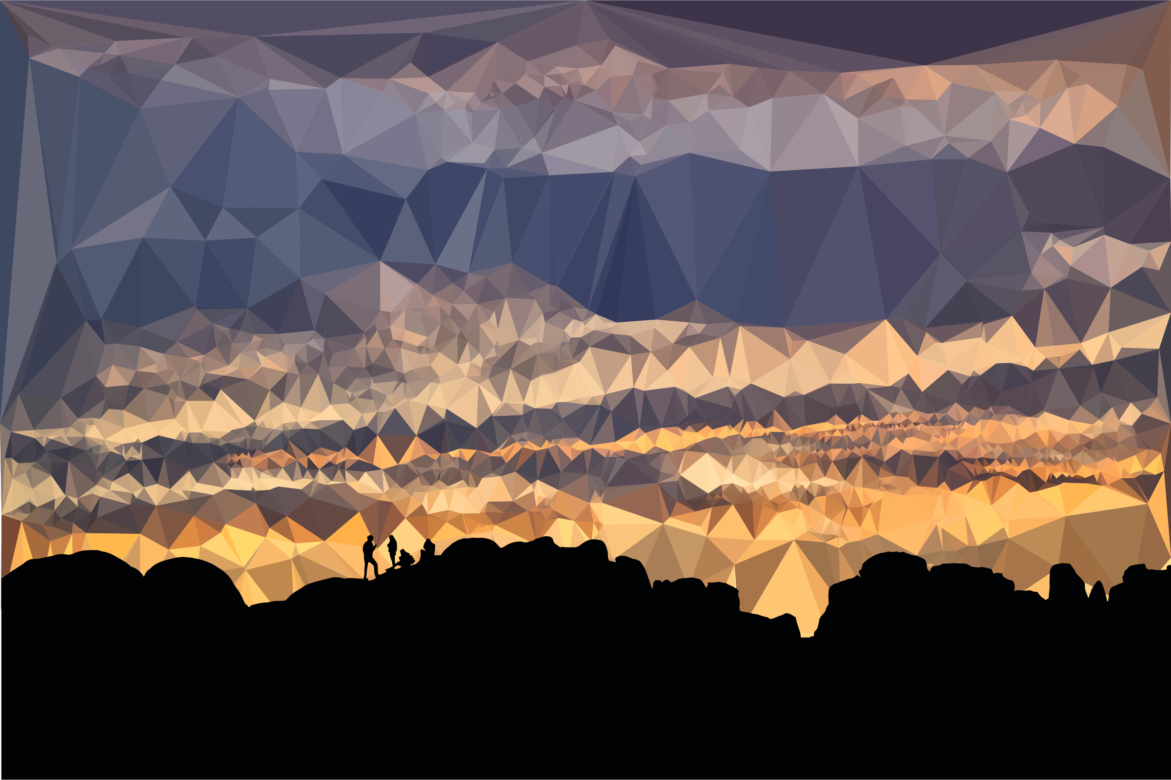 Low Poly Lonesome Four Sunset by GDJ