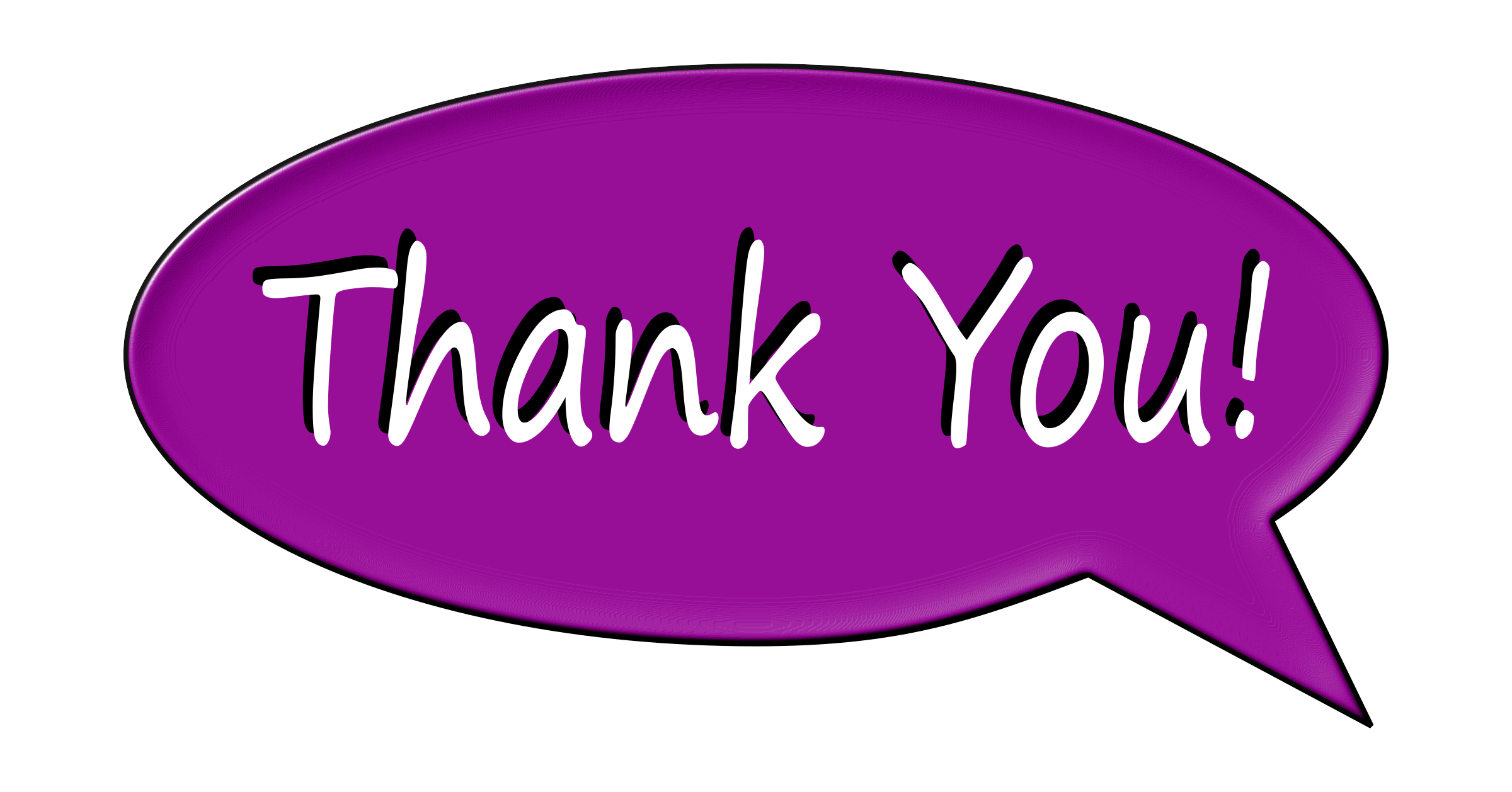clipart thank you bubble big image png