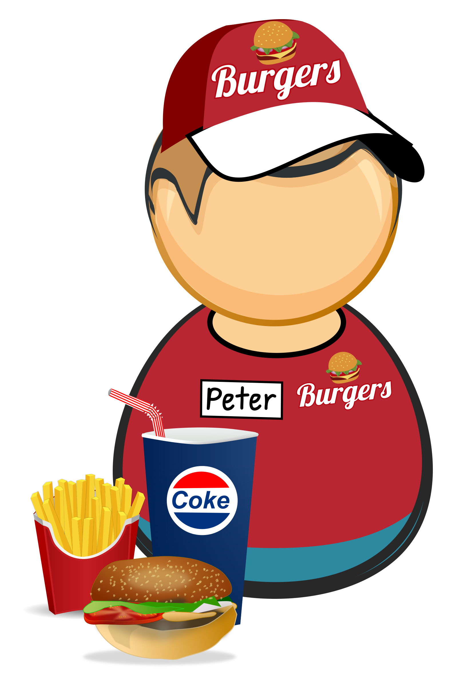 Fastfood worker by Juhele