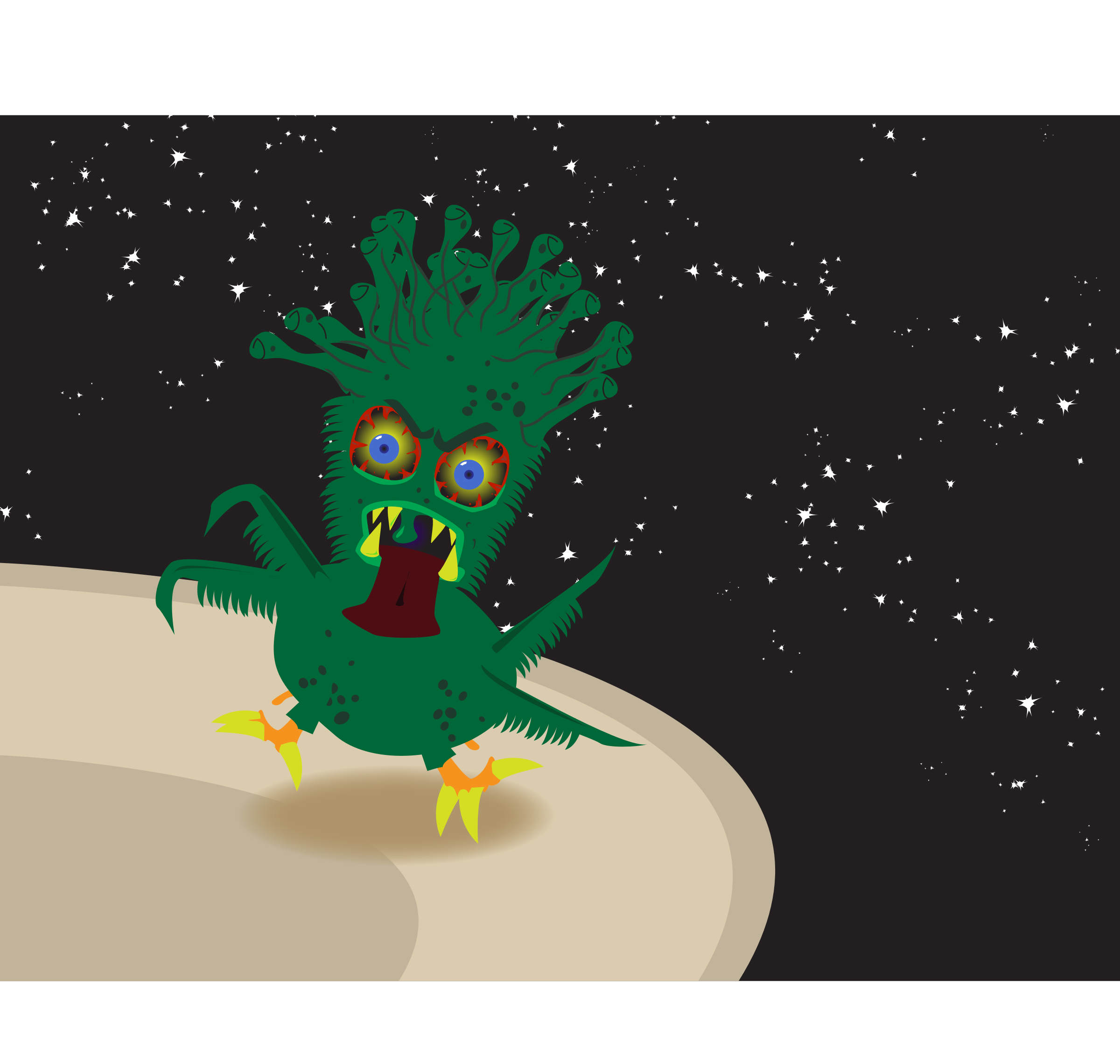 creepy space chicken by ccarson
