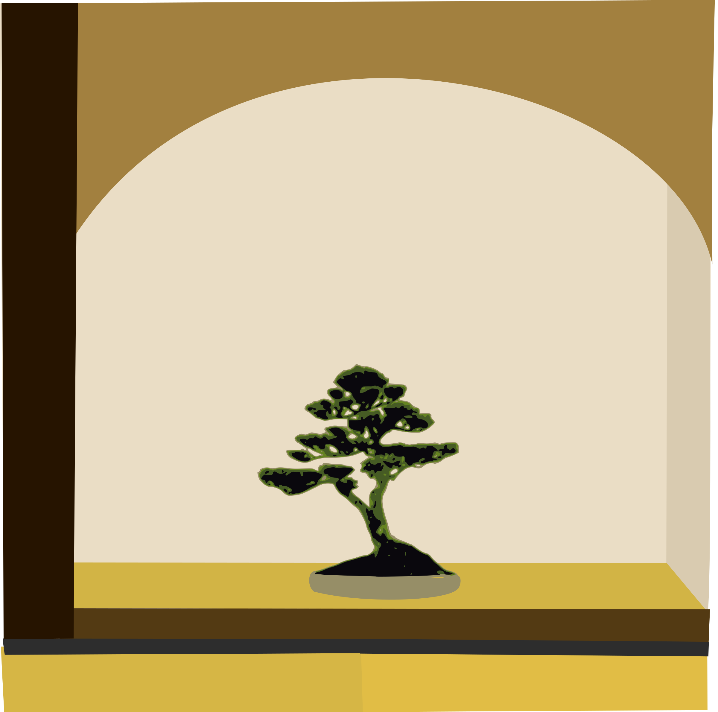 tokonoma with bonsai by yamachem