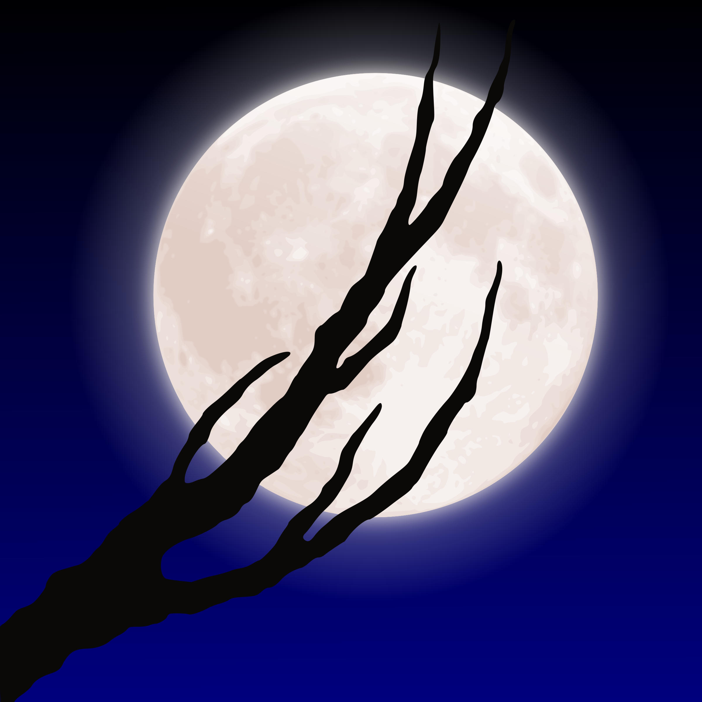 Moon and branch by liftarn