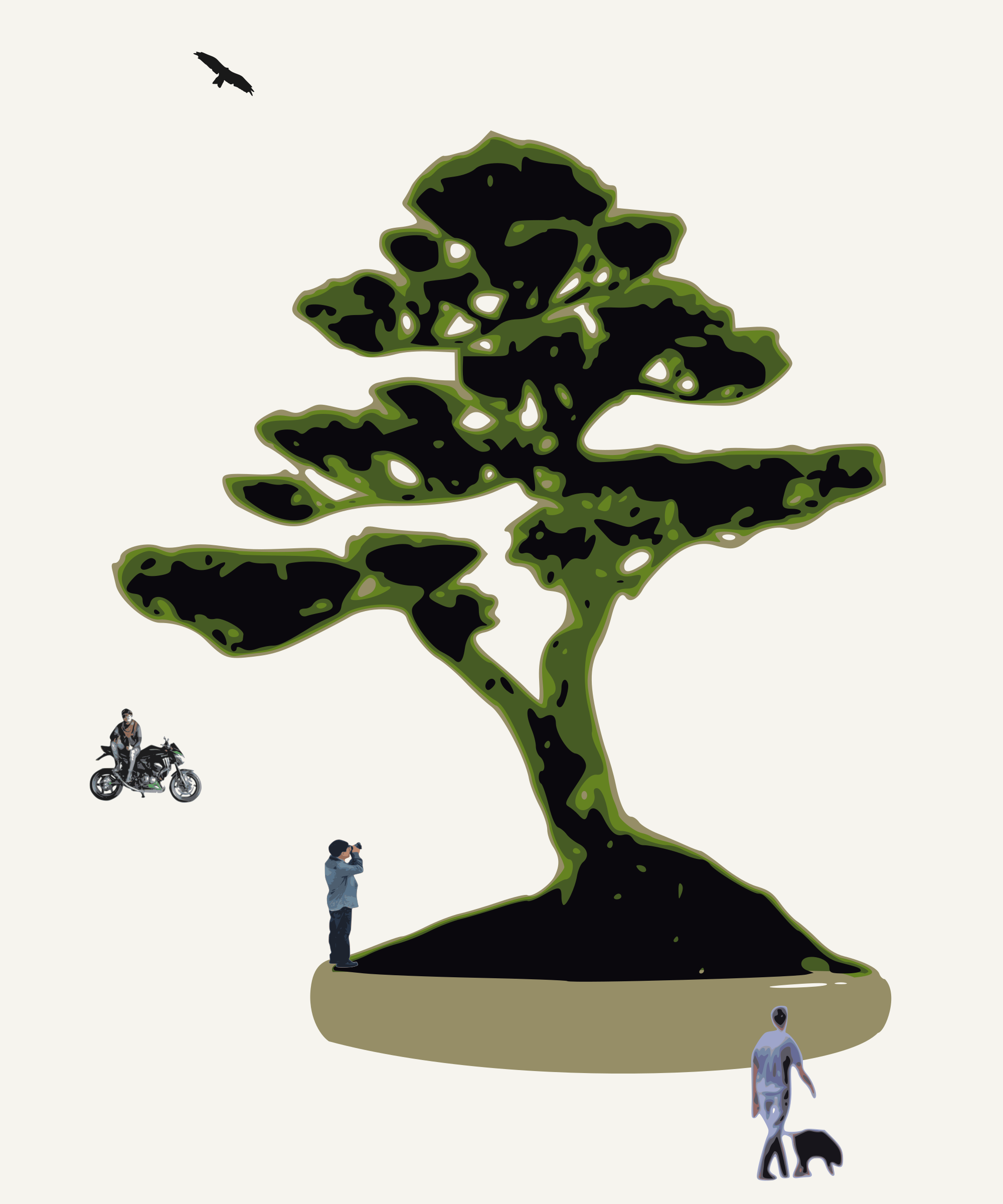 bonsai with figures by yamachem