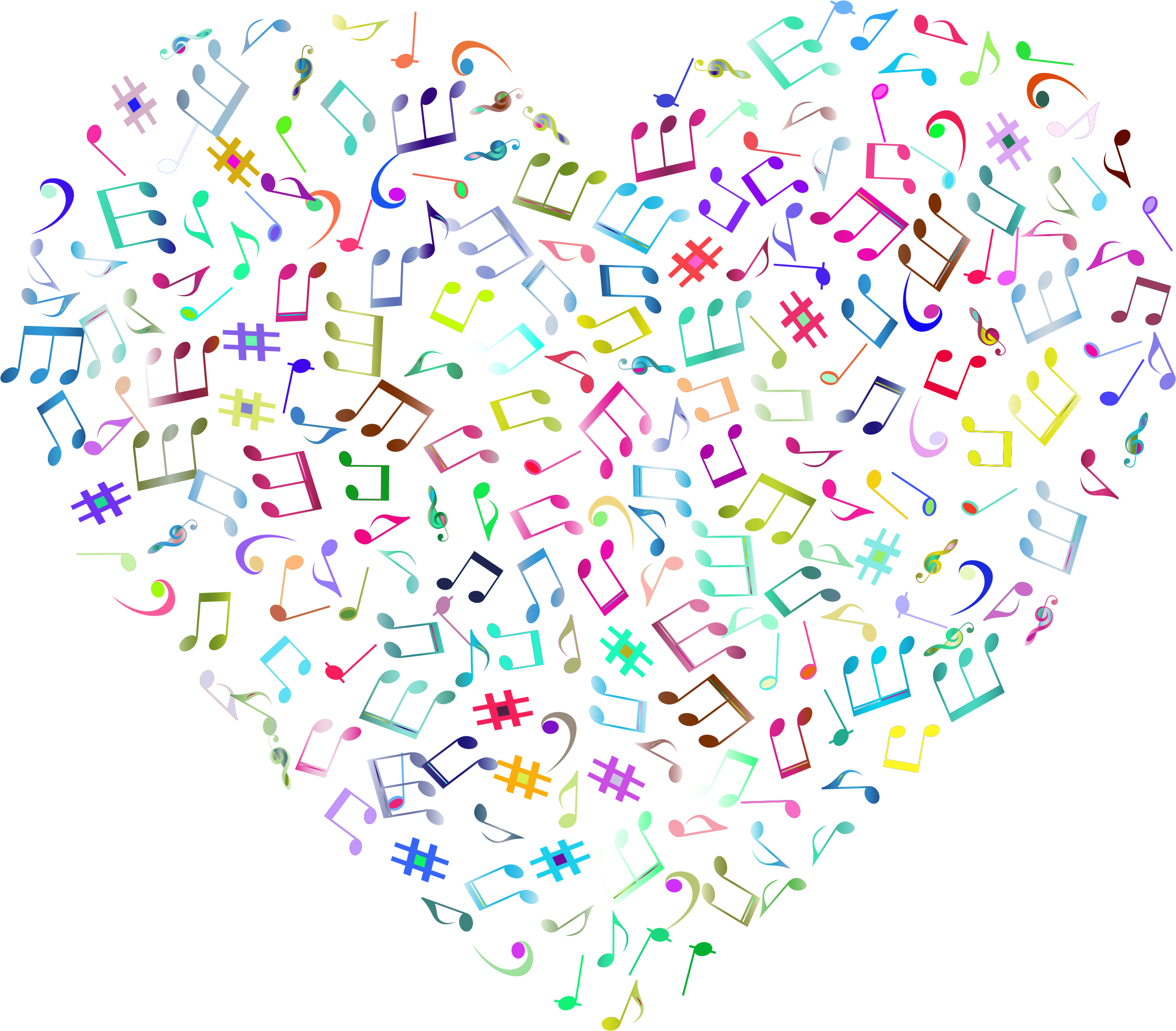 Prismatic Musical Heart 4 2 No Background by GDJ