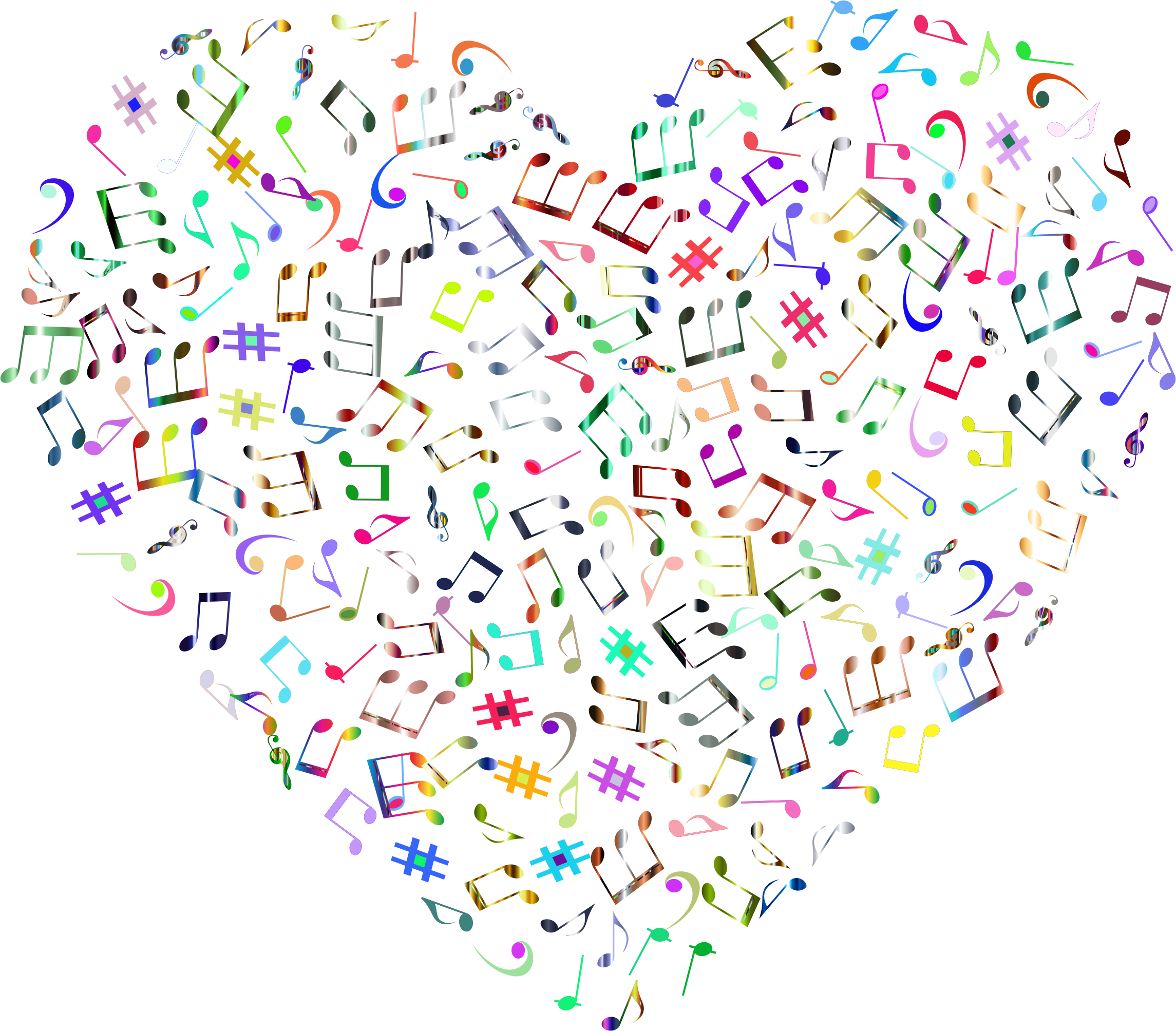 Prismatic Musical Heart 4 4 No Background by GDJ