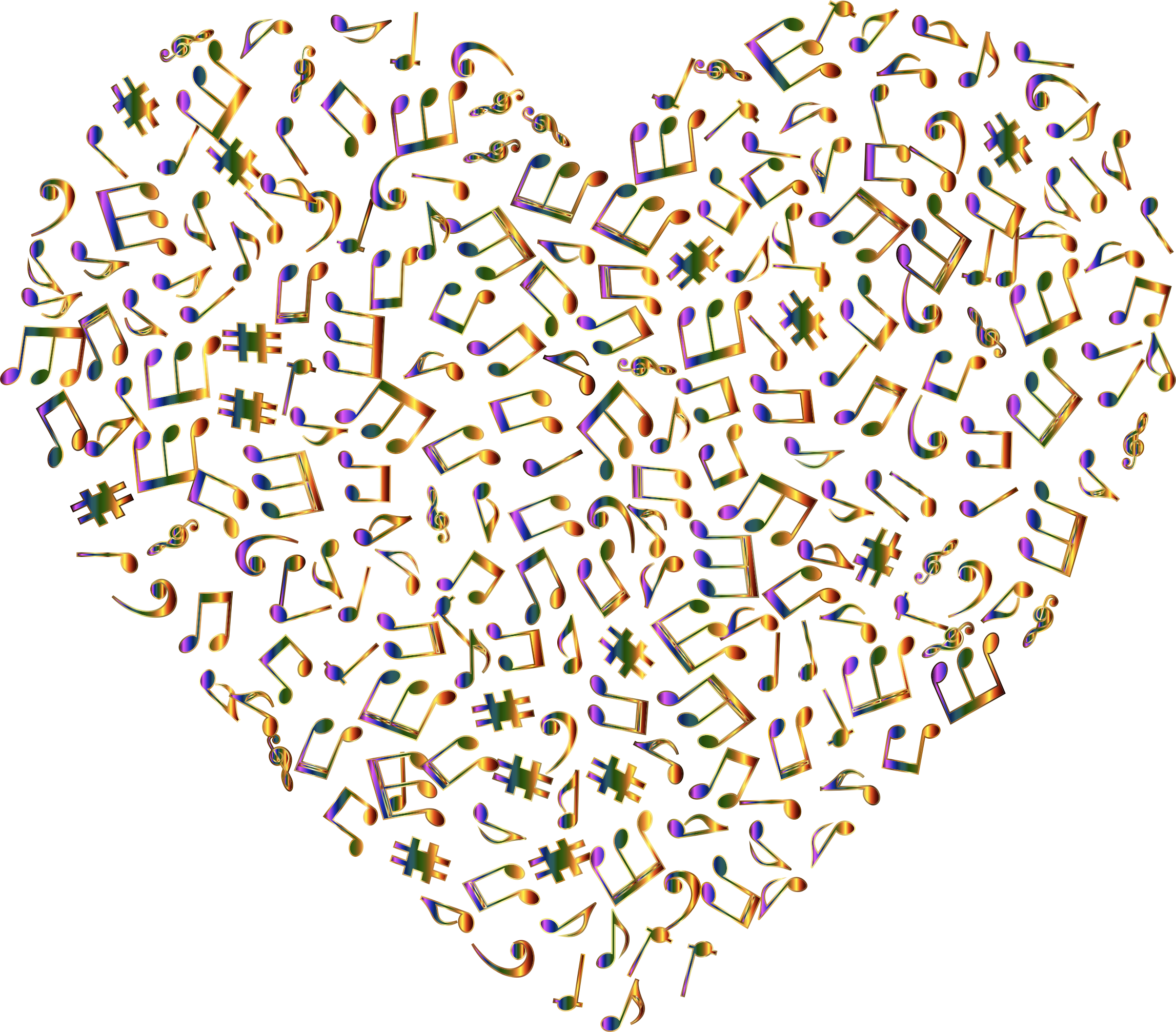Chromatic Musical Heart 4 No Background by GDJ