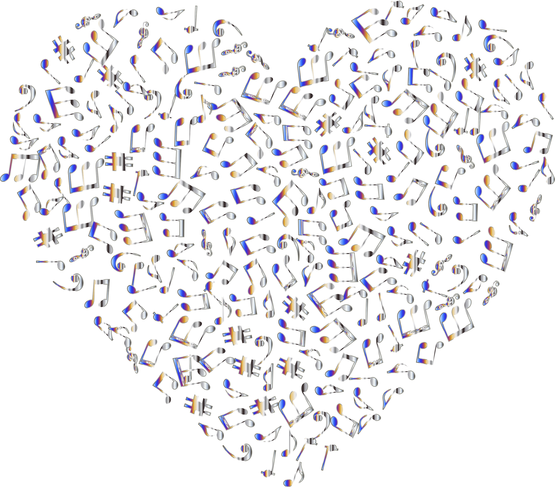 Chromatic Musical Heart 4 2 No Background by GDJ