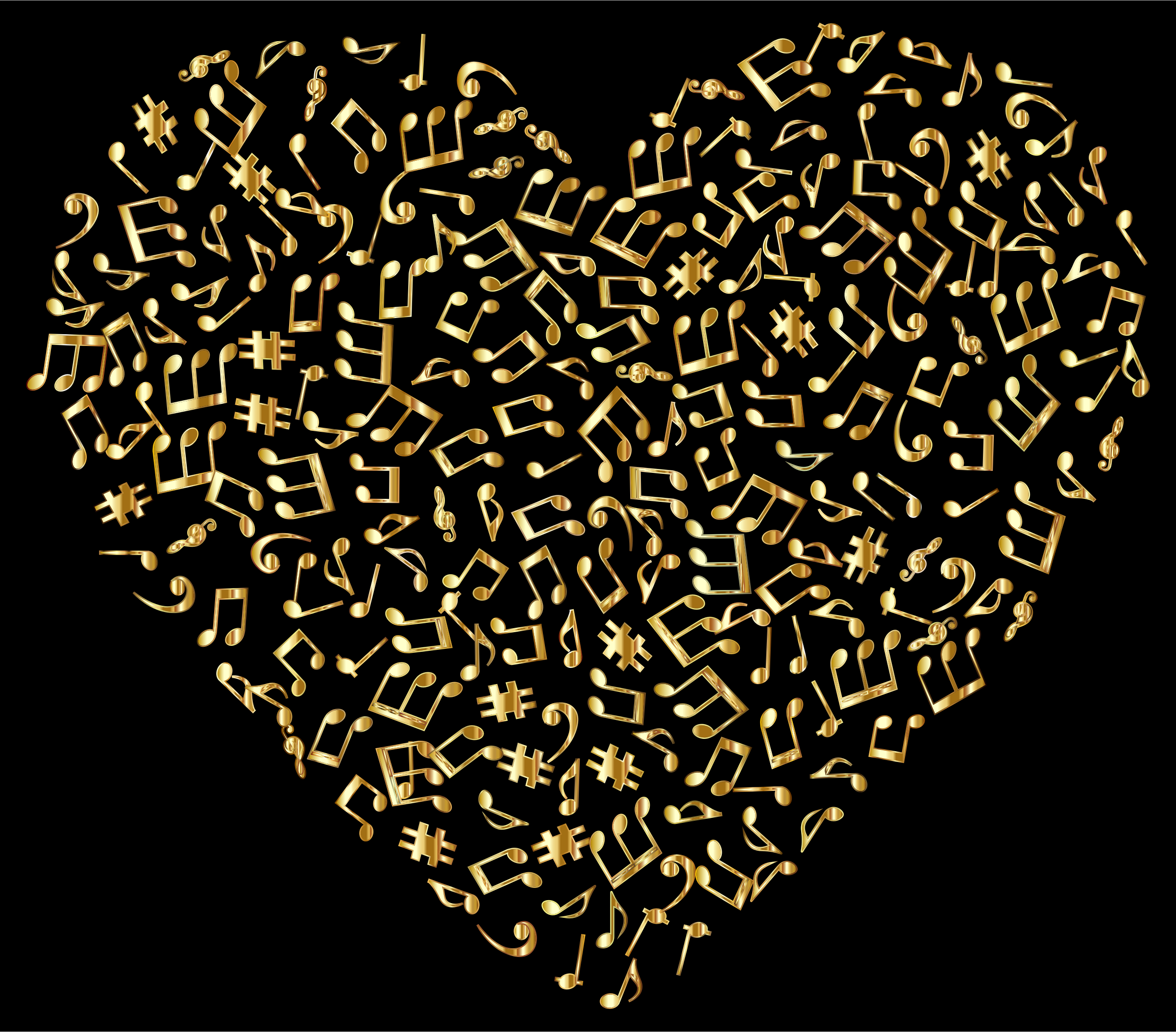 Gold Musical Heart 4 by GDJ