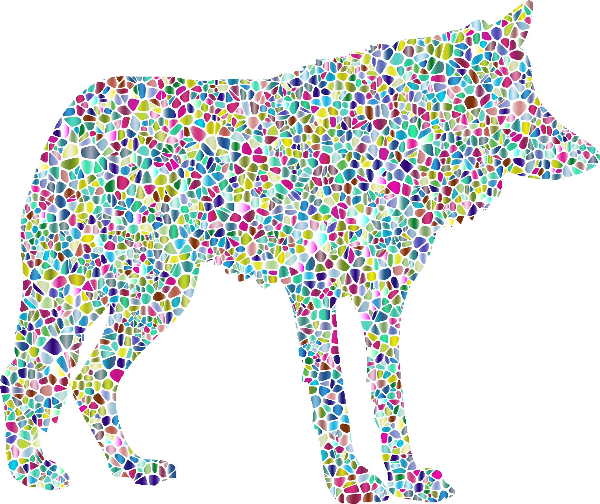 Polyprismatic Tiled Wolf Silhouette 2 by GDJ