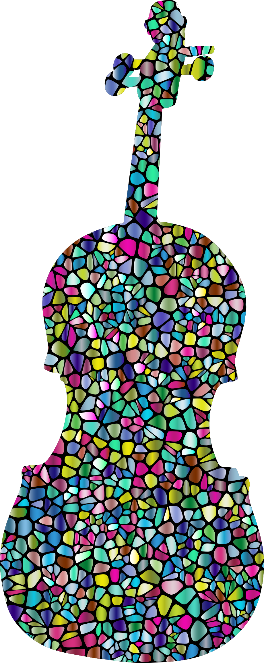 Polyprismatic Tiled Violin Silhouette With Background by GDJ