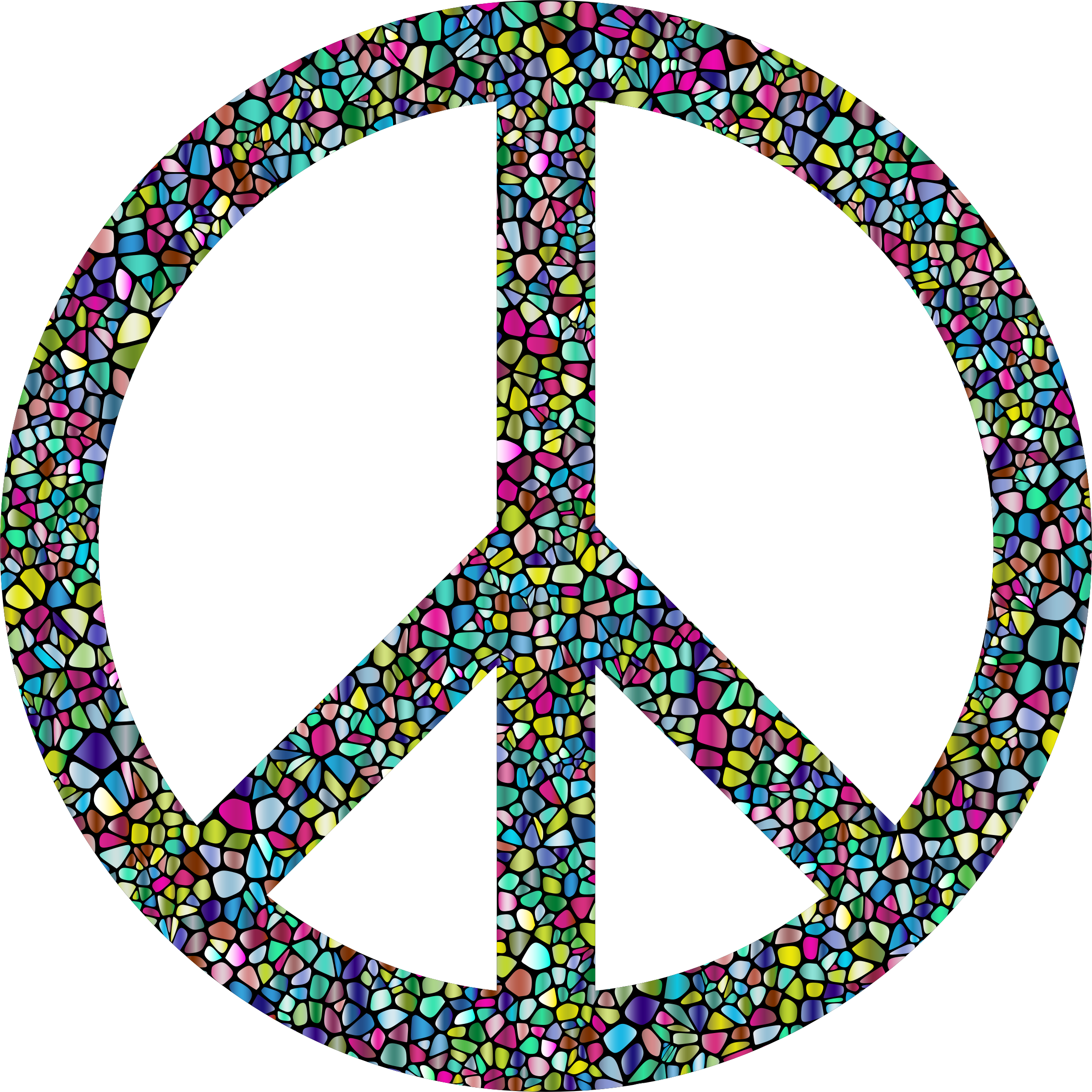 Polyprismatic Tiled Peace Sign With Background by GDJ