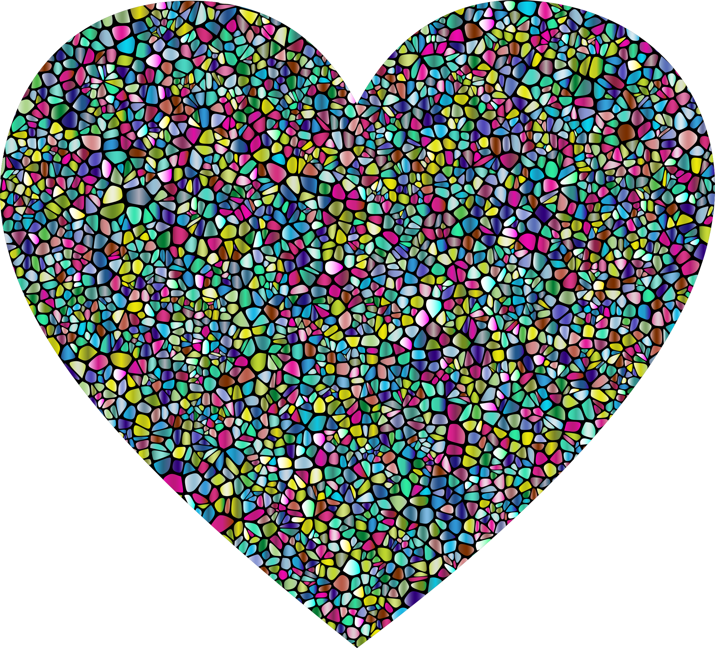 Polyprismatic Tiled Heart With Background by GDJ