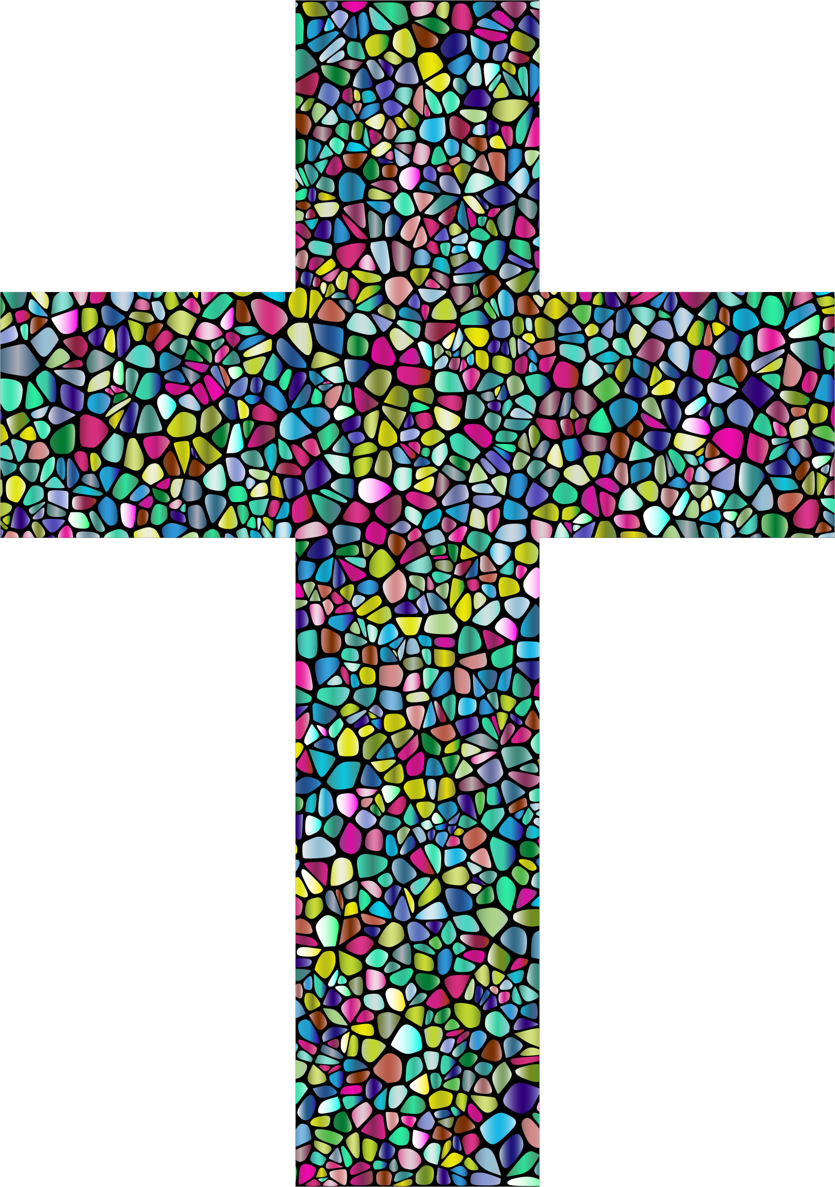 Polyprismatic Tiled Cross With Background by GDJ