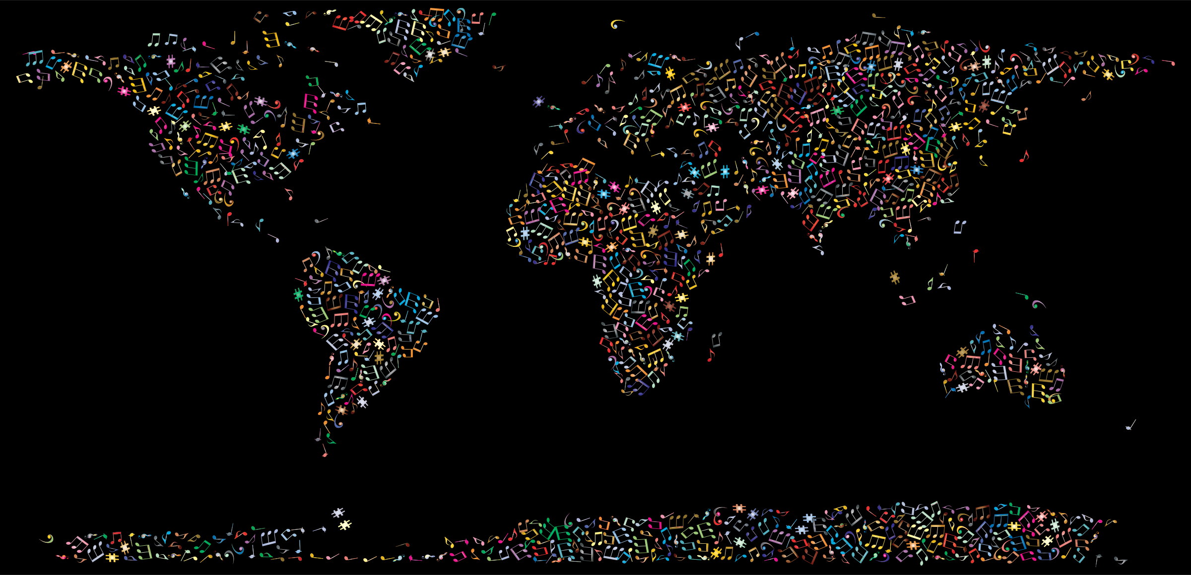 Prismatic Musical World Map 2 by GDJ