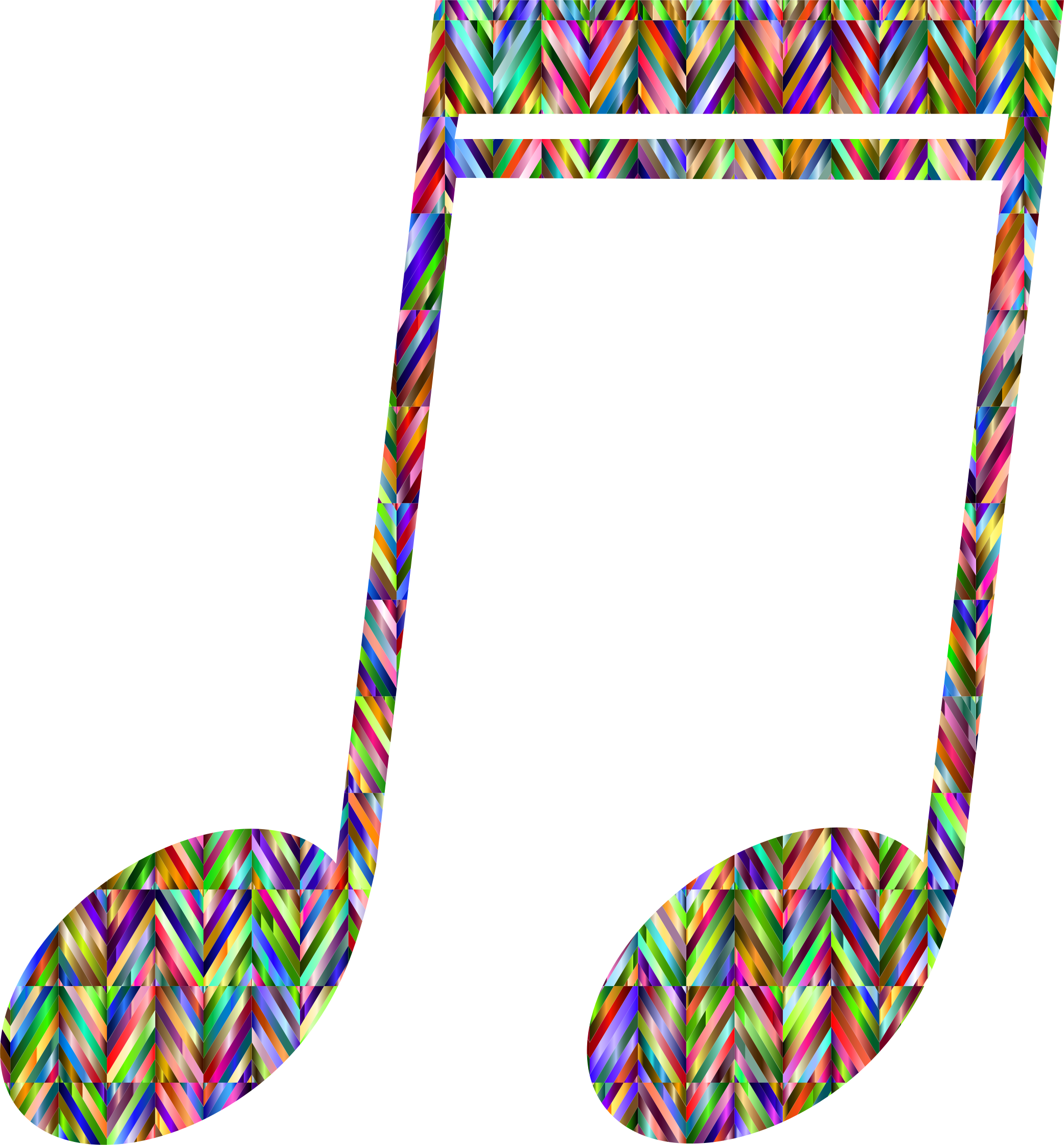 Prismatic Strips Musical Note by GDJ