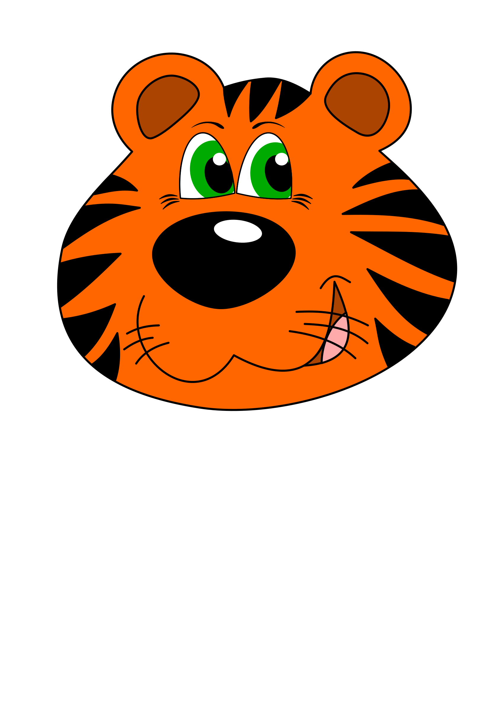 Cartoon tiger by Susa