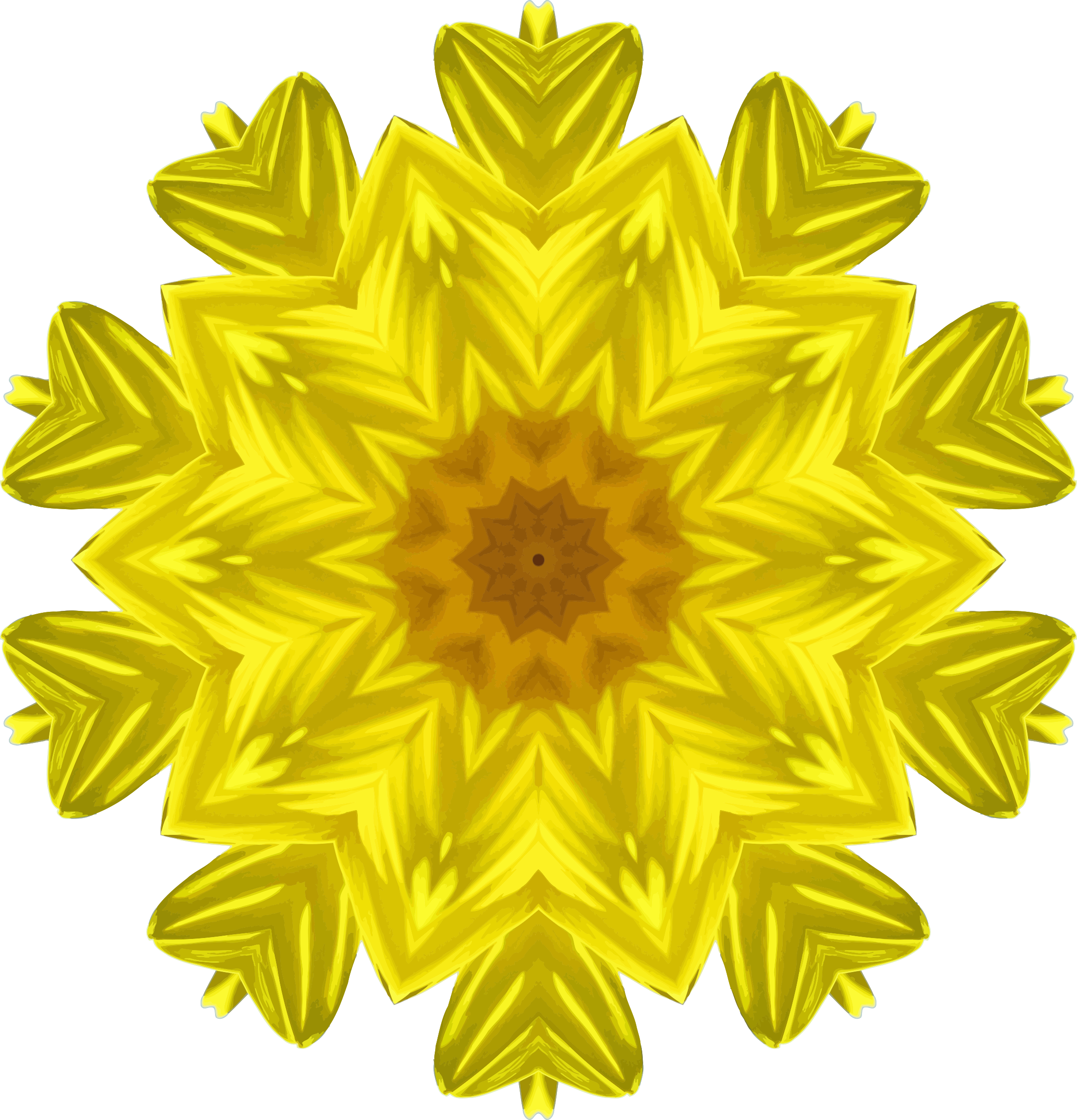 Sunflower kaleidoscope 1 by Firkin