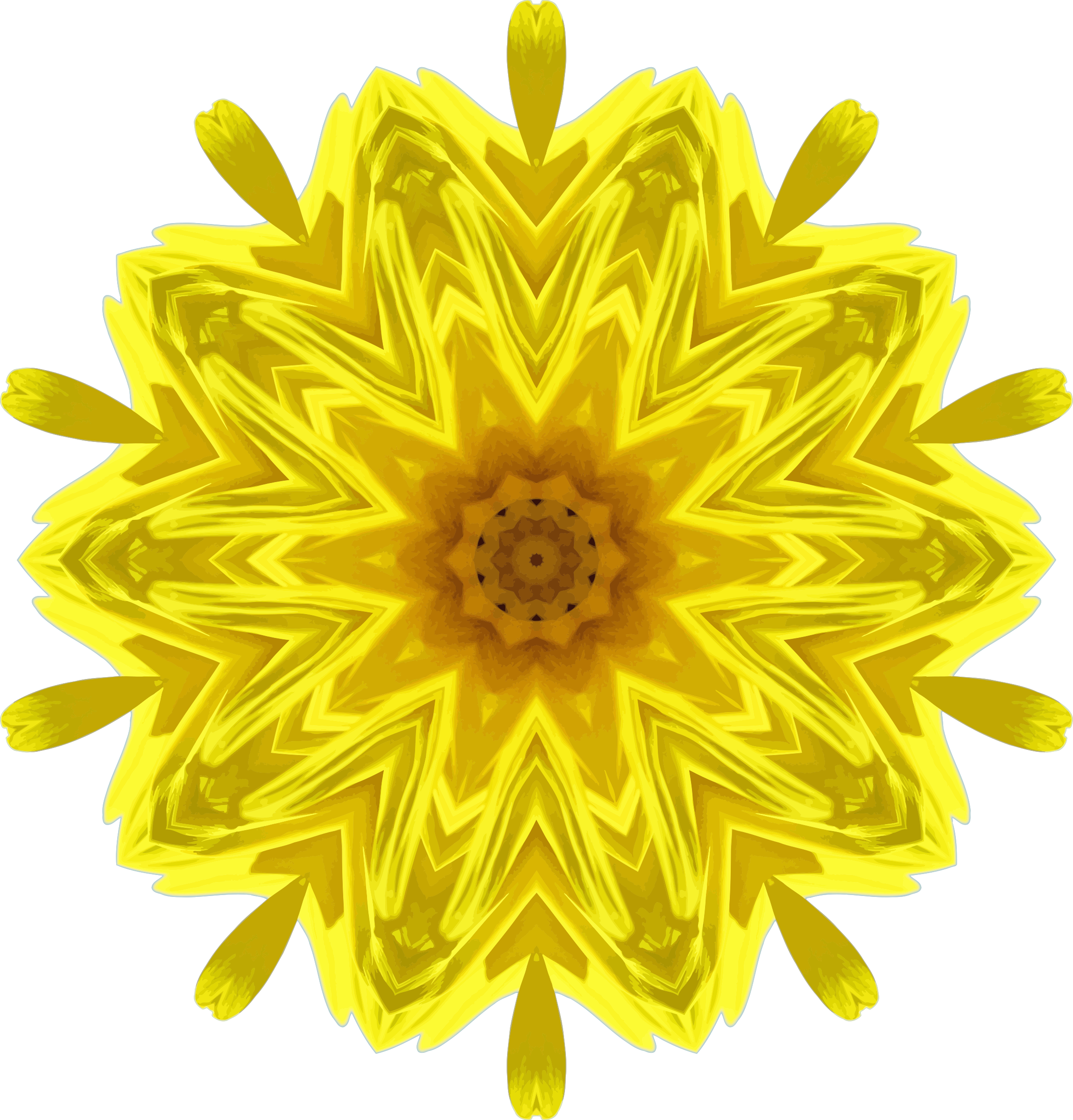Sunflower kaleidoscope 2 by Firkin