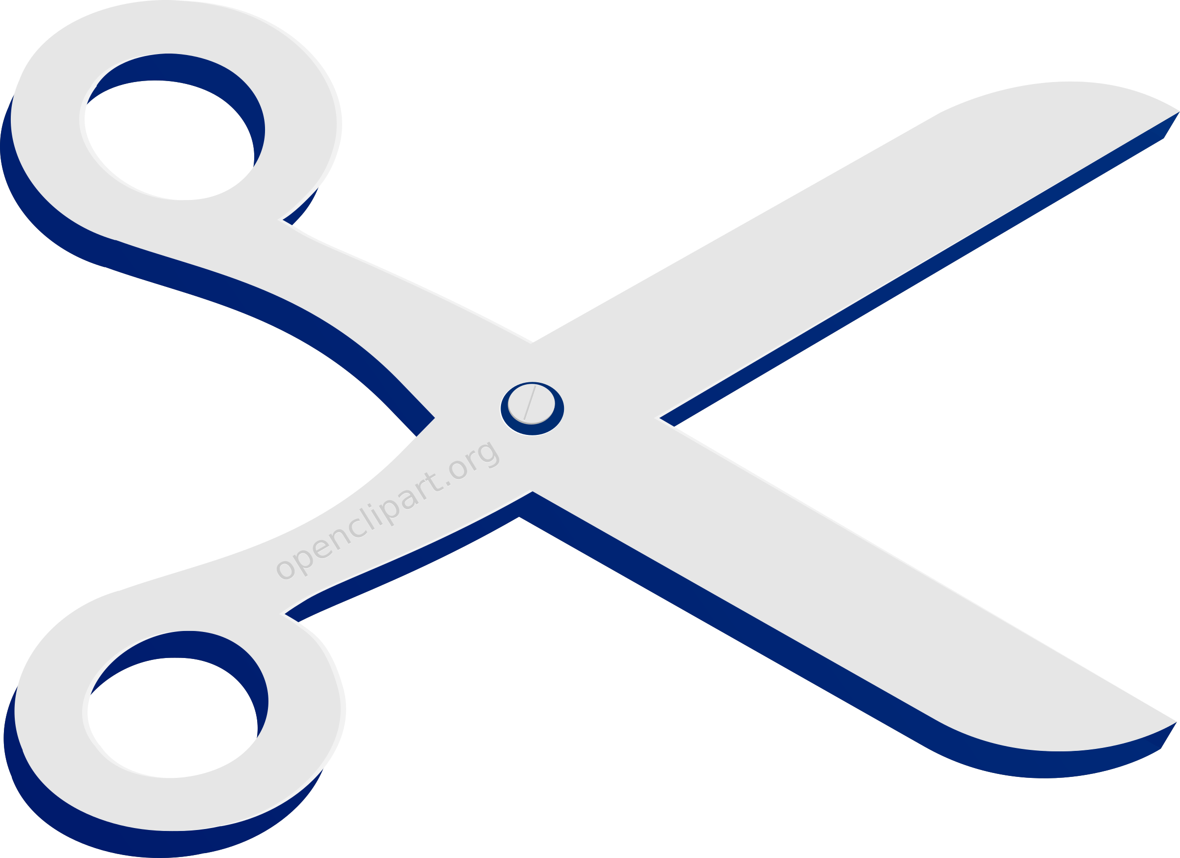 A Remix Of Openclipart Scissors Logo in Blue  by hackdorte