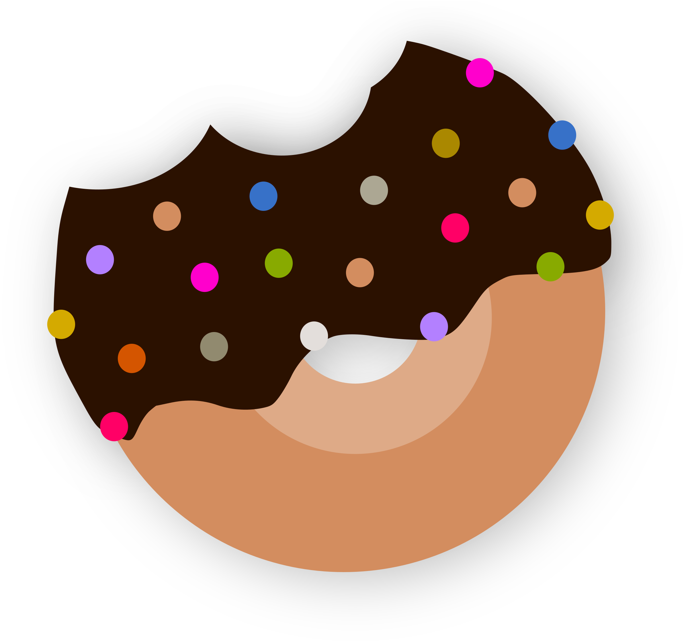 Delicious Donut With Chocolate by hackdorte