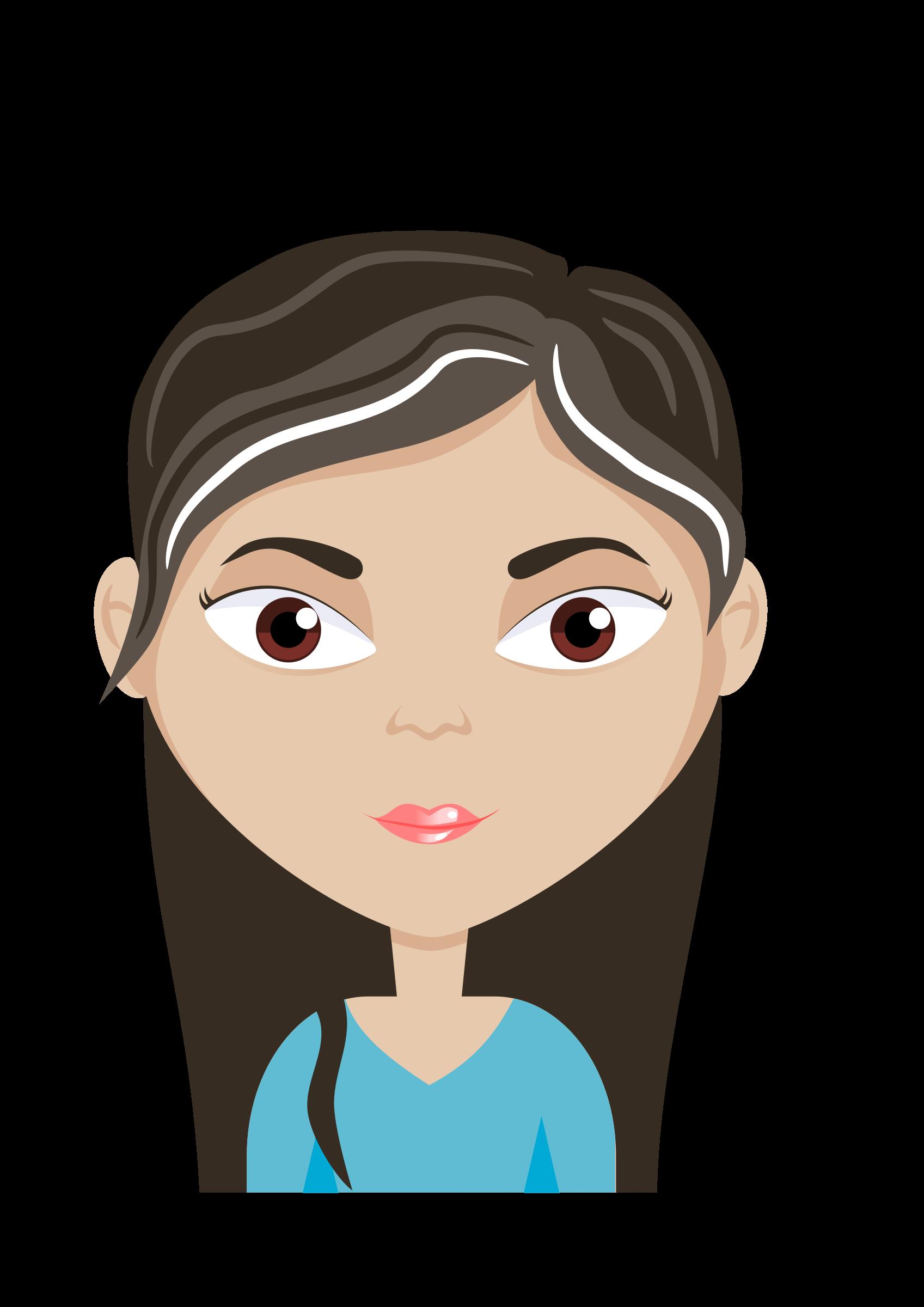 Clipart - Female cartoon avatar
